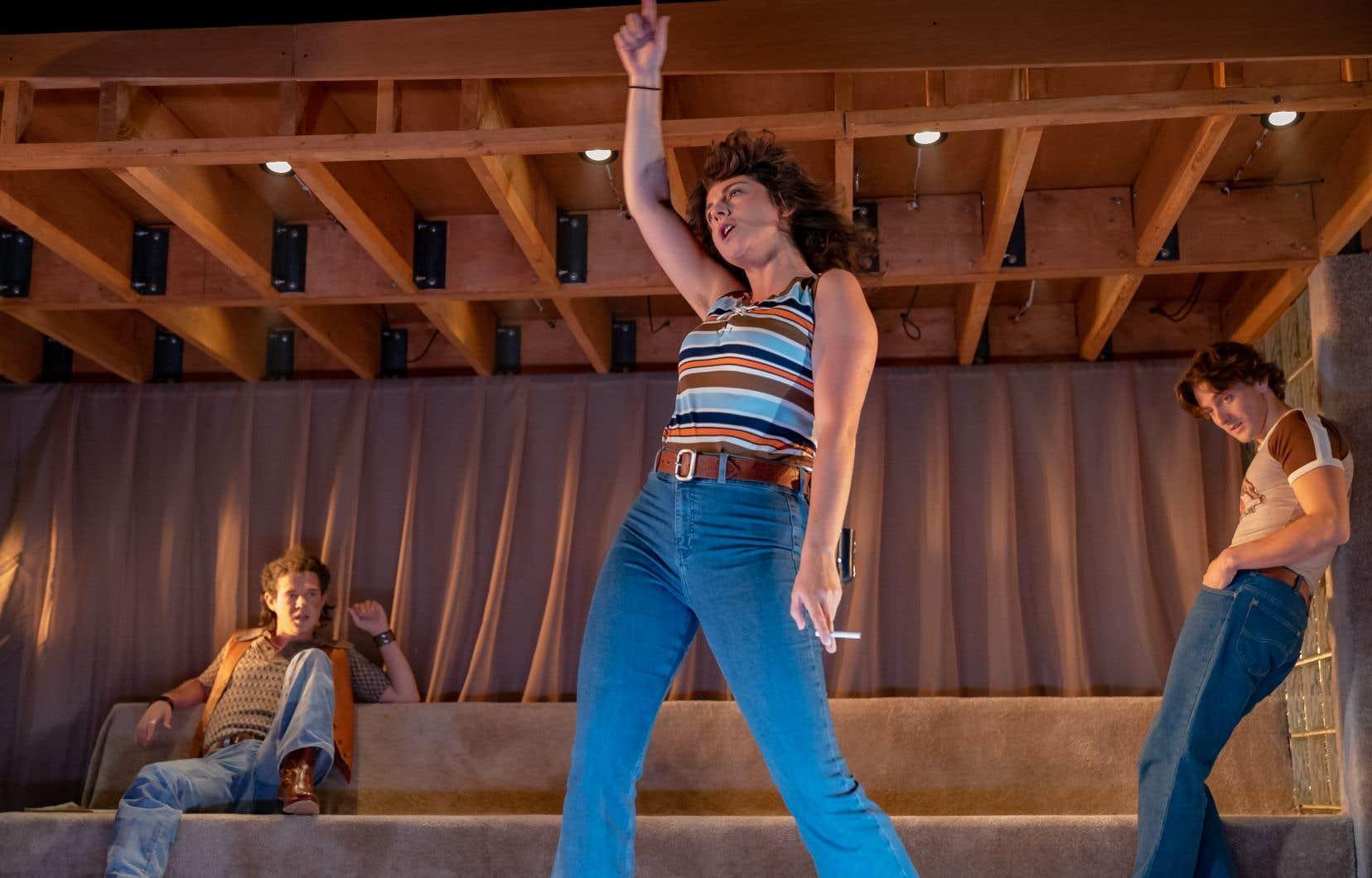 Les acteurs de <em>La brèche</em> en répétition à l'Espace Go, en attendant que la pièce puisse être présentée devant un public.