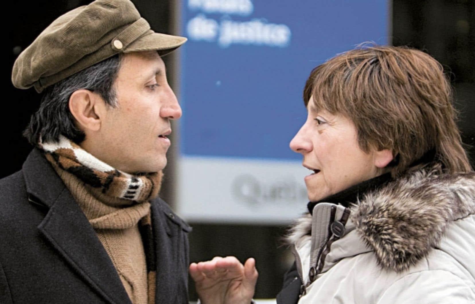 Amir Khadir et Françoise David, coprésidents de Québec solidaire<br />