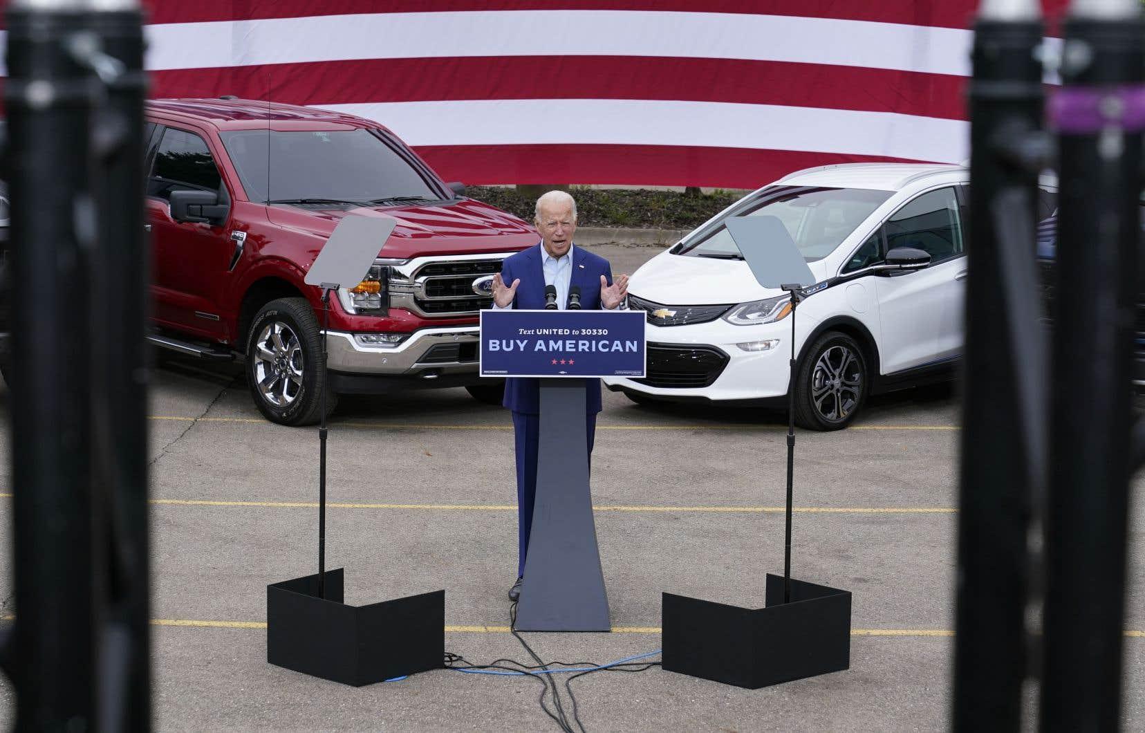 """«Biden va s'engager à adopter une politique """"Buy American"""" — et ce sera une véritable promesse, pas seulement de belles paroles», stipule la plateforme électorale du président désigné, qui accuse Donald Trump de ne pas en avoir fait assez."""