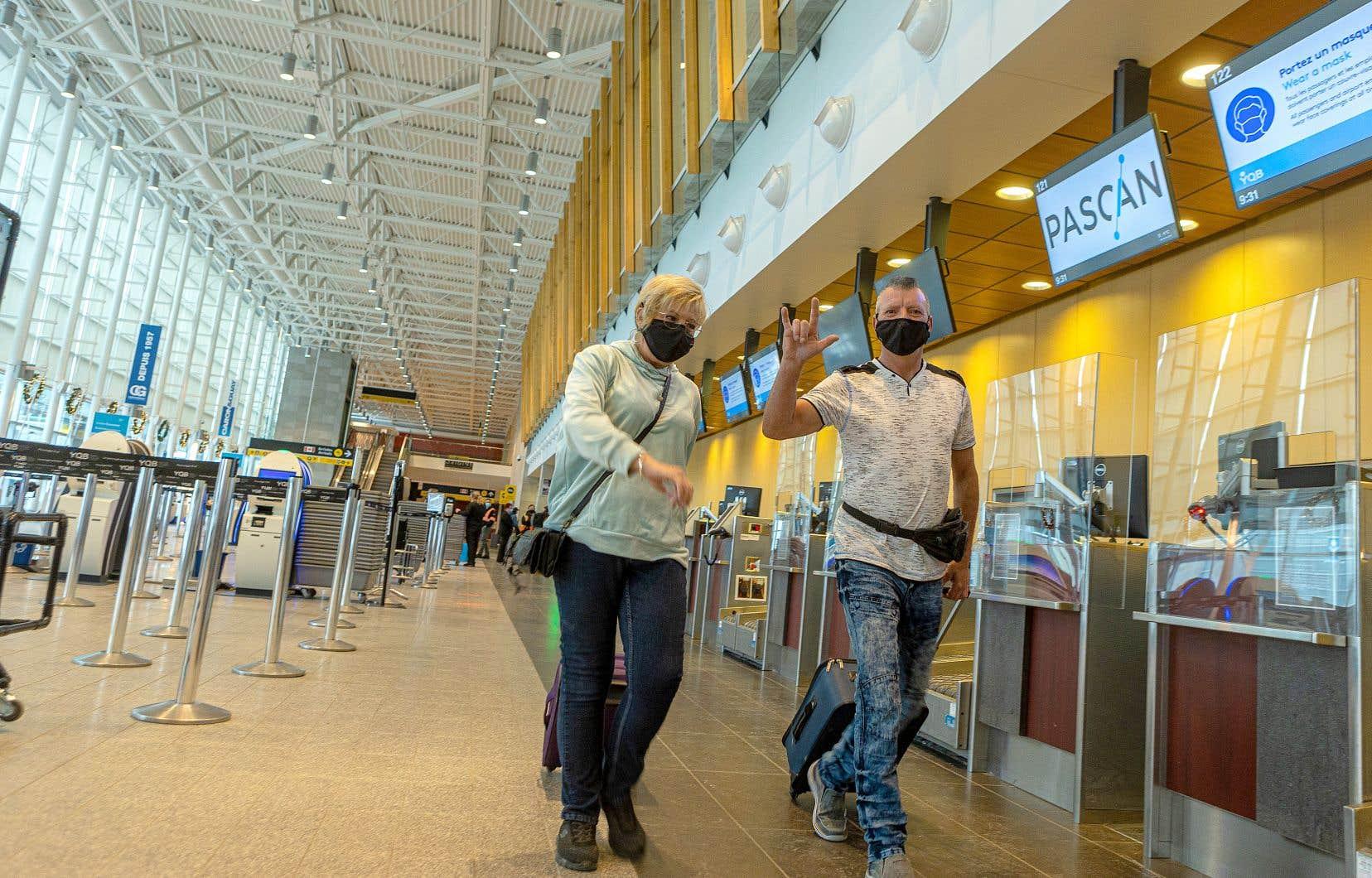 Les passagers du vol 568 en partance de Québec vers la République dominicaine avaient le cœur léger, mardi.