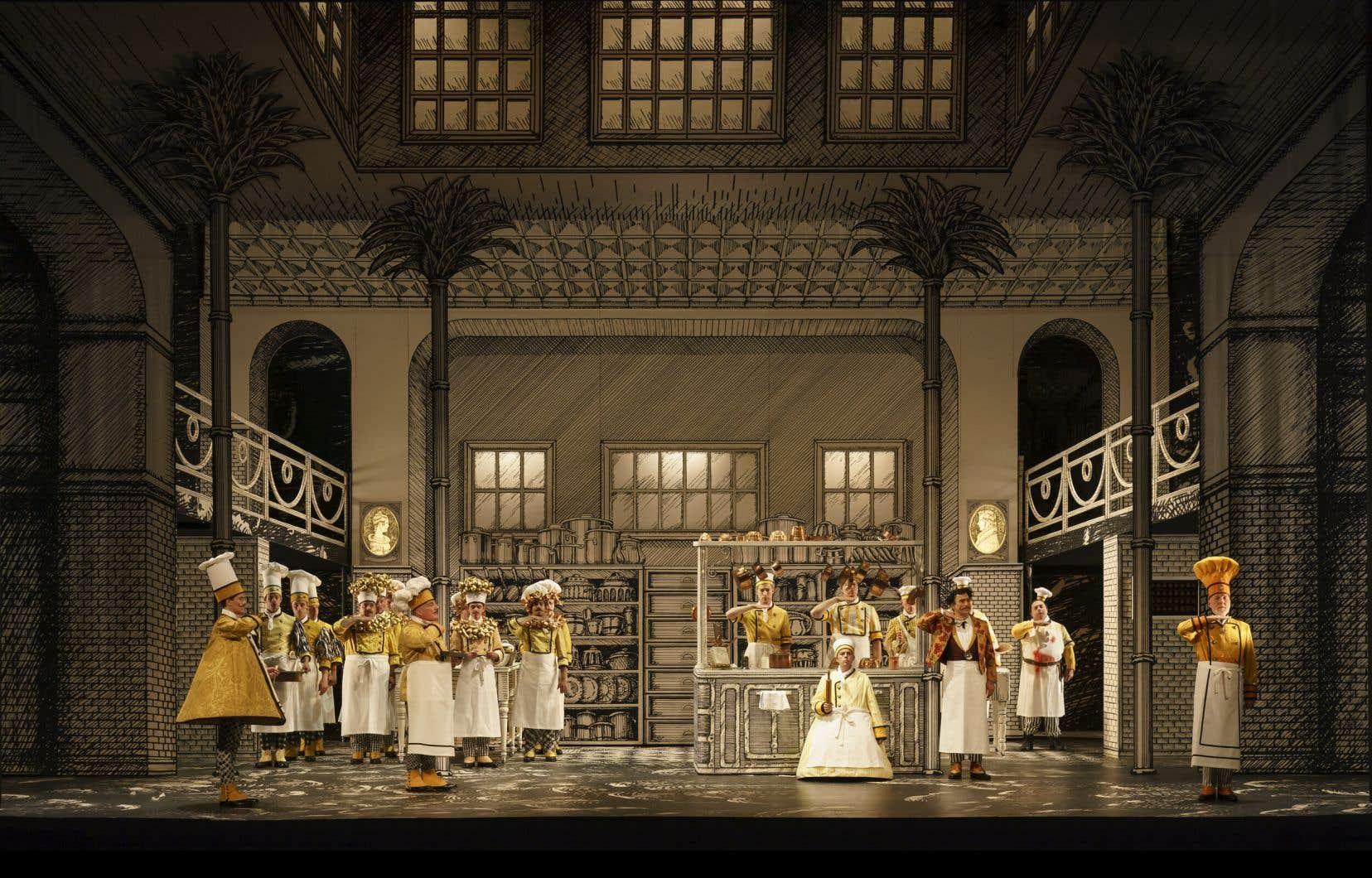 Dans leur «Flûte enchantée» de Mozart à Glyndebourne en 2019, la réussite du scénographe et costumier André Barbe et du metteur en scène Renaud Doucet est d'avoir en quelque sorte résolu la quadrature du cercle de l'adaptation; intelligence, goût, pertinence, cohérence.