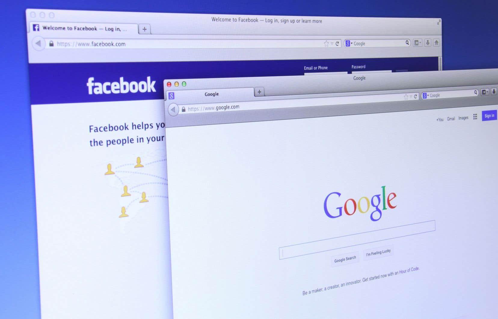 Des documents internes de Google, eux aussi retirés de la version finale de la plainte, indiquaient que l'accord permettrait de «créer un fossé» pour éviter d'entrer en concurrence directe avec Facebook.