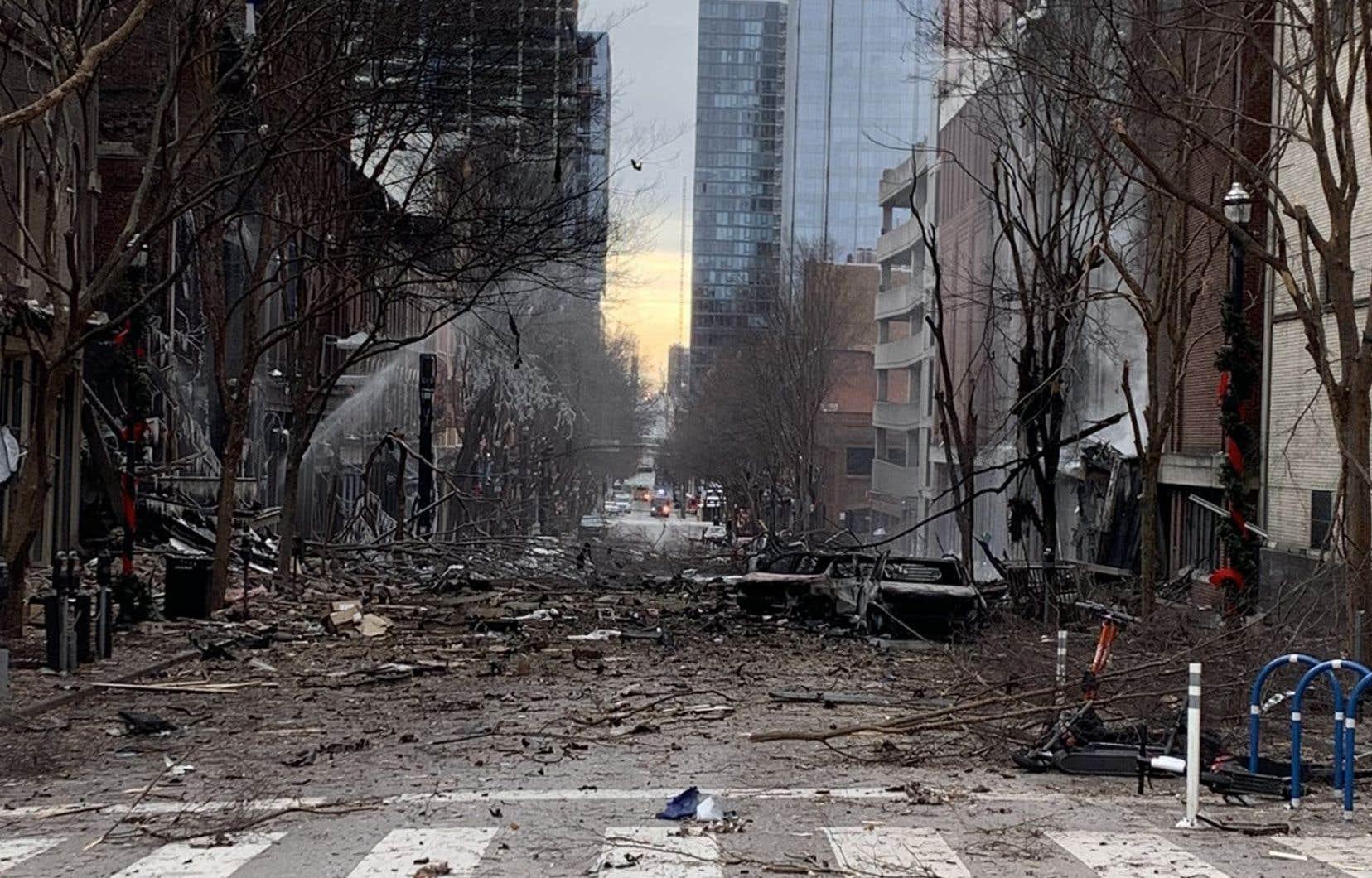 La déflagration, dans un quartier commerçant, a été ressentie à plusieurs kilomètres à la ronde.