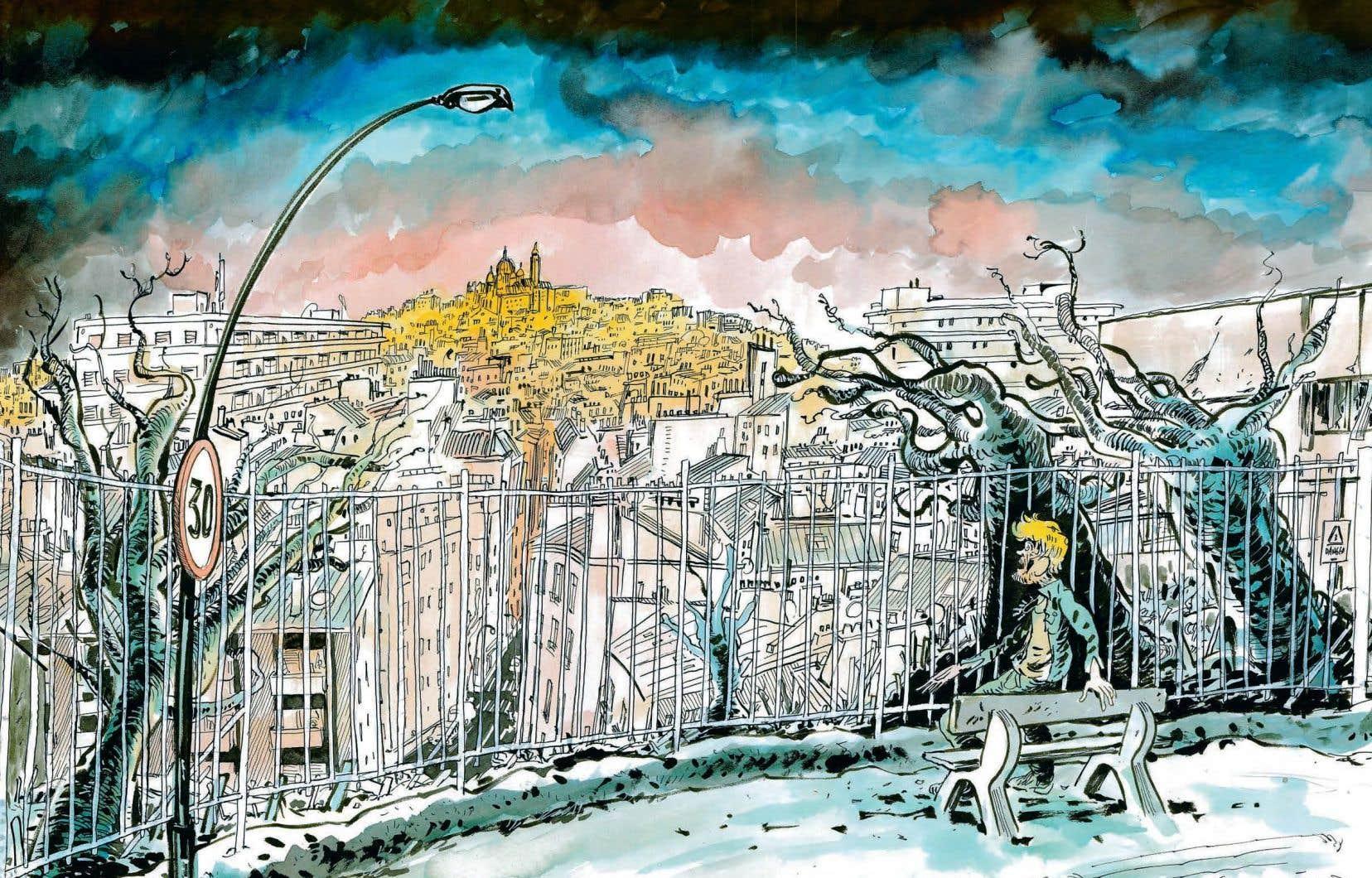 Une planche de «Vernon Subutex». Excellente transition du roman vers la bédé, une belle réussite, la plume de Virginie Despentes conservant ici son élan colérique, sexuel et malpropre. Une écriture admirablement bien portée par le dessin nerveux de Luz, un ancien de «Charlie Hebdo».