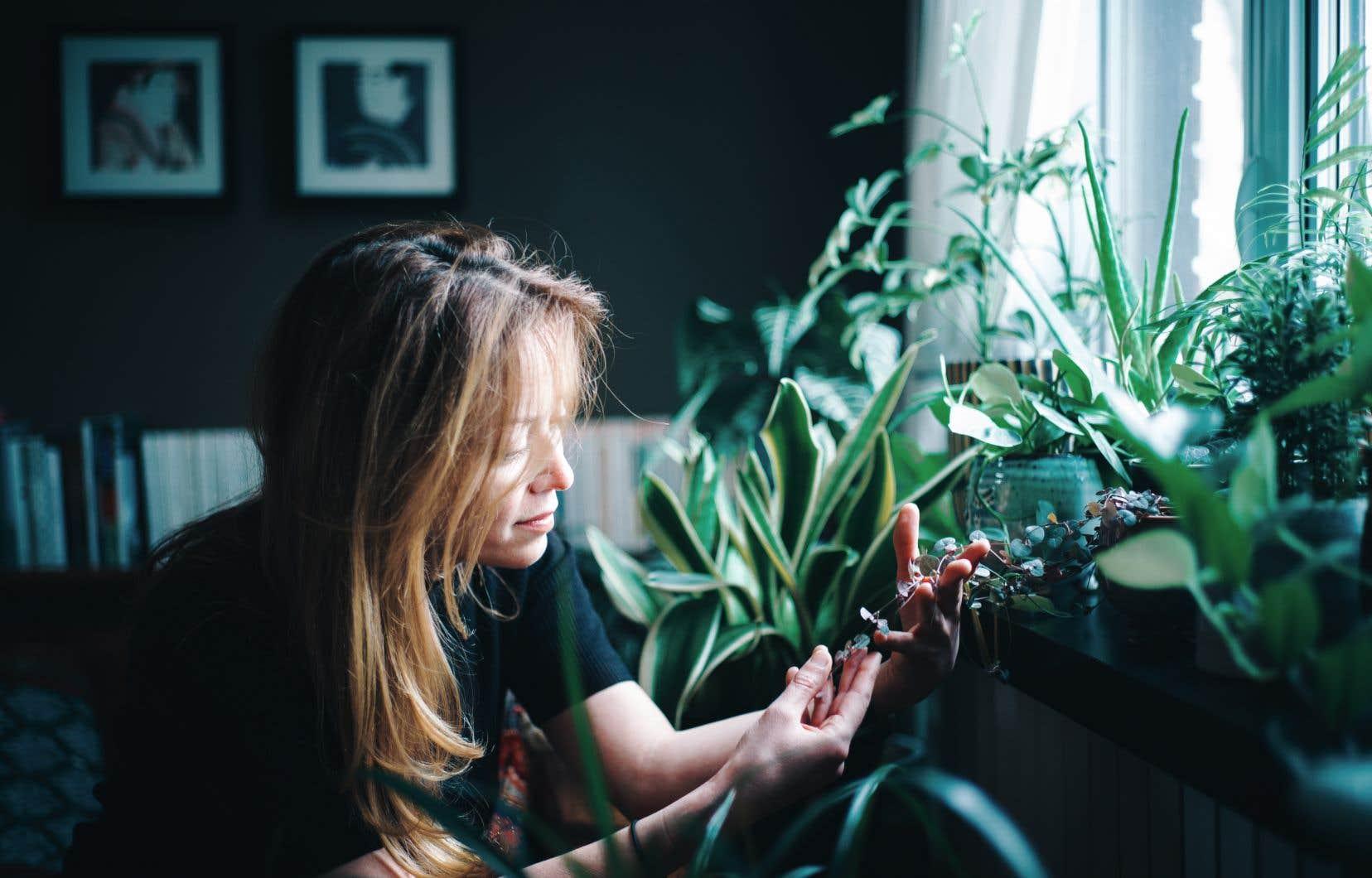 Atteinte par le virus des plantes pendant le confinement, Sophie Izmiroglu songe maintenant à devenir horticultrice.