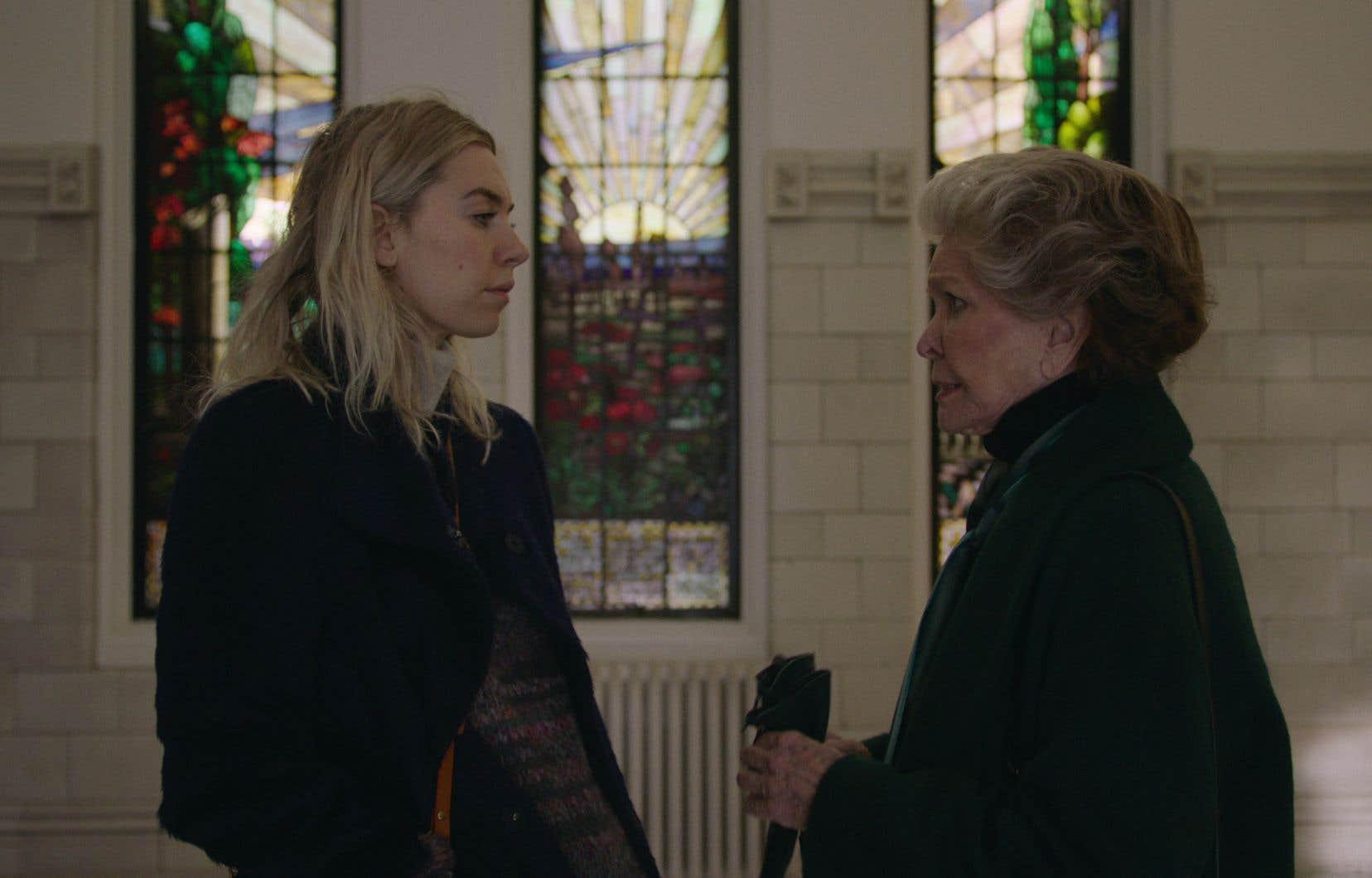 Bien que le tournage du film ait été émotionnellement exigeant à bien des égards, les  actrices Vanessa Kirby (à gauche) et Ellen Burstyn le classent  parmi les meilleurs souvenirs de leur carrière. Et cela ne serait pas étranger à Montréal, et à ses équipes de production hors pair.
