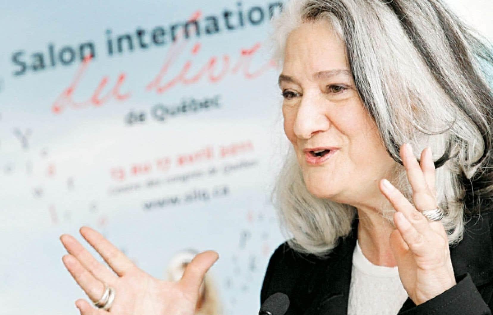 L&rsquo;auteure Marie Laberge est pr&eacute;sidente d&rsquo;honneur du Salon du livre de Qu&eacute;bec pour la troisi&egrave;me fois.<br />