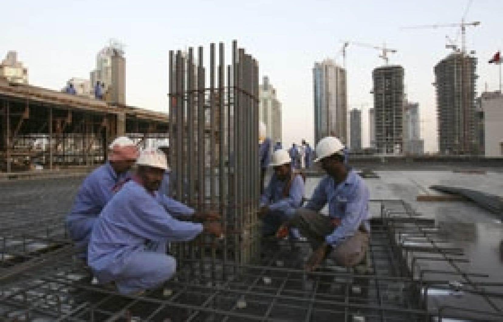 Un chantier de construction à Dubaï, dans les Émirats arabes unis.