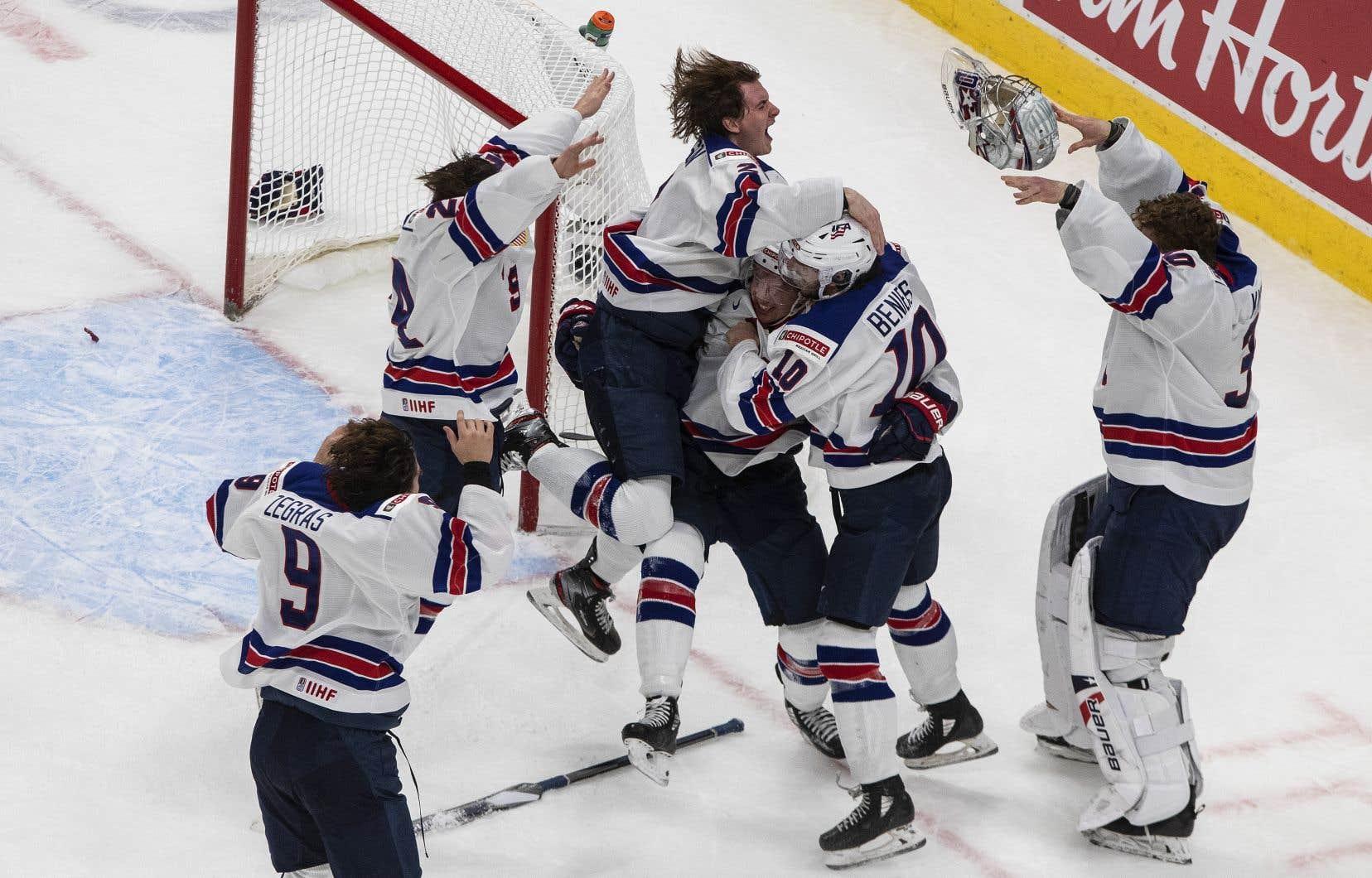 Les États-Unis, équipe gagnante du Championnat mondial de hockey junior