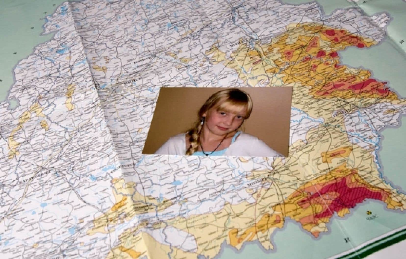 La blonde Katia est venue de la Biélorussie au Québec grâce à la fondation pour les Séjours santé des enfants de Tchernobyl.<br />