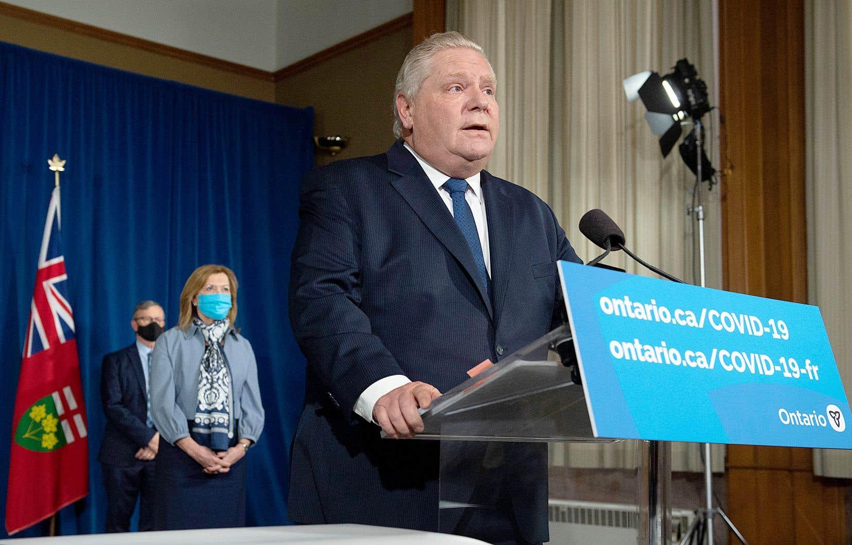 Le premier ministre de l'Ontario, Doug Ford, a annoncé mardi l'état d'urgence et un confinement de 28 jours dans la province.