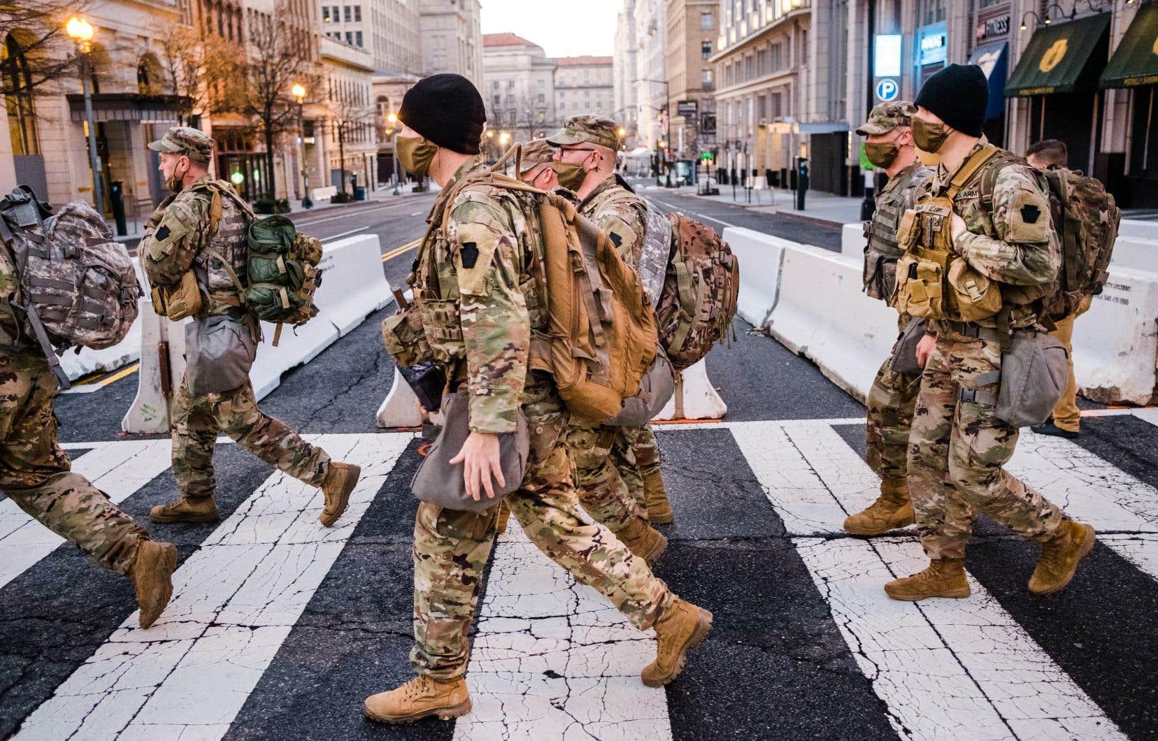 Sans précédent, l'investiture du 20 janvier se fera sous haute surveillance policière et militaire.