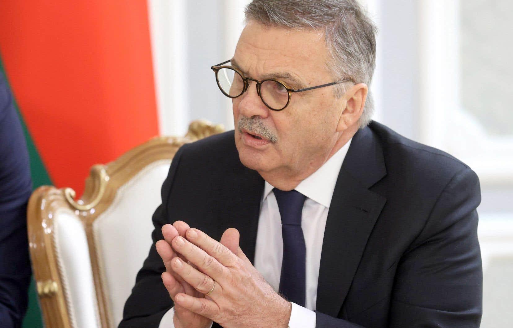 Le président de la Fédération internationale de hockey sur glace, René Fasel, était en pourparlers avec le président biélorusse, Alexandre Lukashenko, le 11 janvier dernier à Minsk.