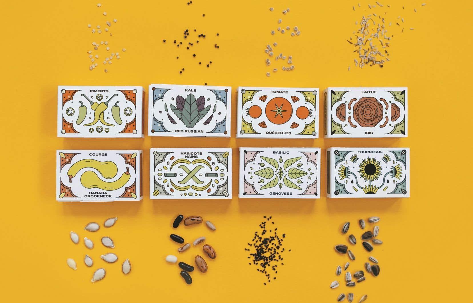 Les semences ancestrales du coffret du Nutritionniste urbain, qui déplore la perte d'une grande partie des variétés des plantes dans les dernières décennies.