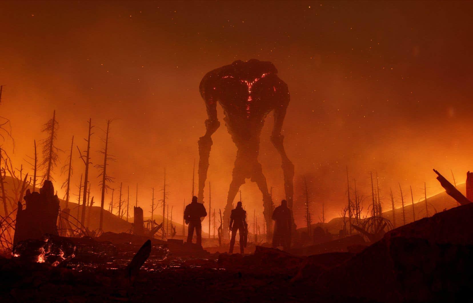 Le jeu <em>Outriders</em> est une sorte de croisement entre <em>Destiny</em>, <em>Mass Effect</em> et <em>Gears of War</em> dans lequel l'humanité se voit investie de superpouvoirs.