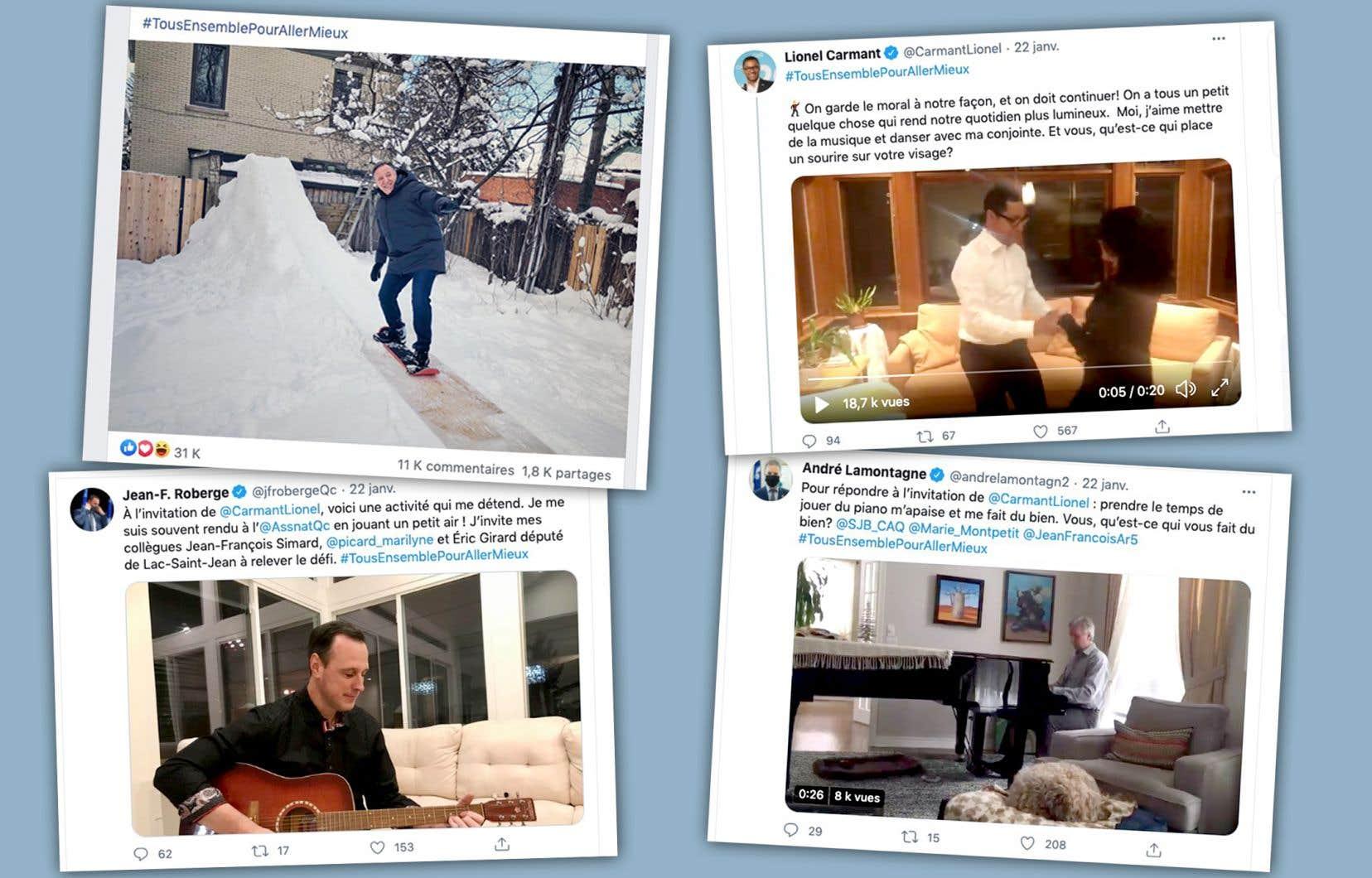 «#TousEnsemblePourAllerMieux est apparu vendredi dernier sur les réseaux sociaux de François Legault», écrit Josiane Cossette.