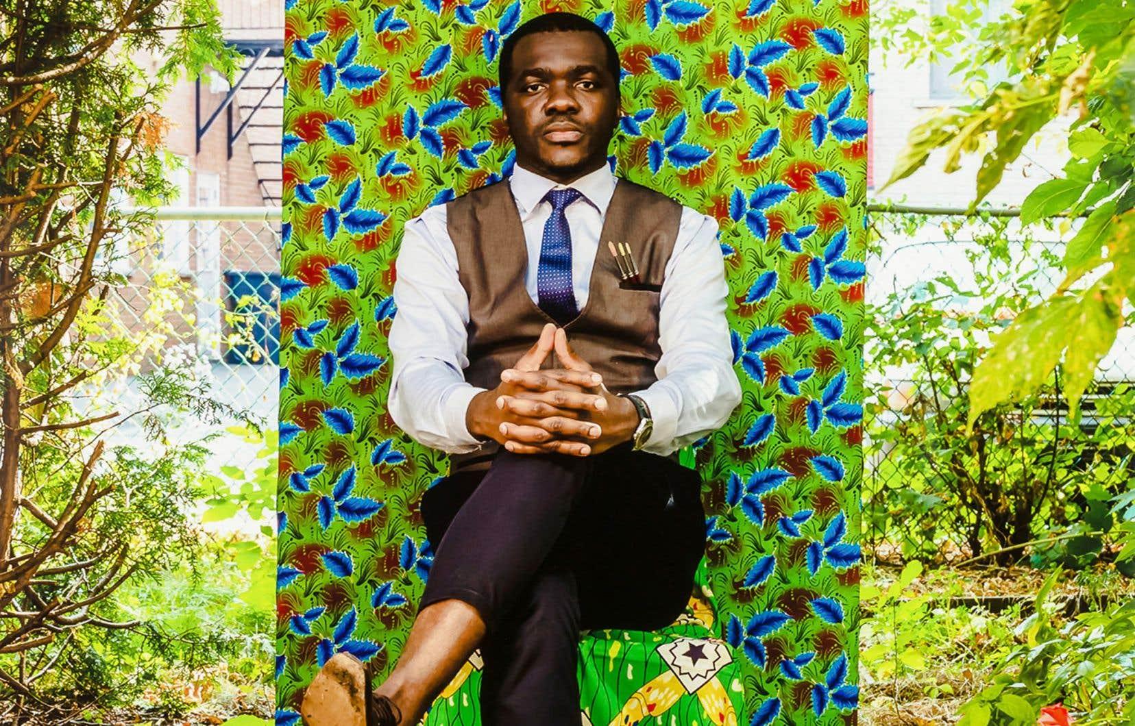 Détail de l'oeuvre «Authentique no 1», Moridja Kitenge Banza, 2017 © Moridja Kitenge Banza