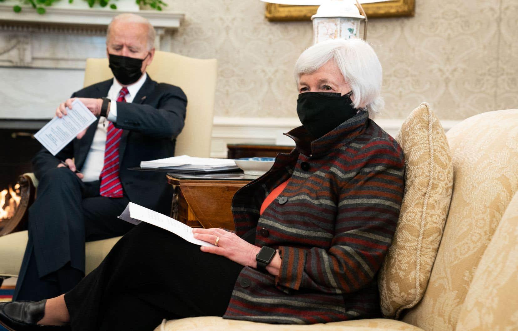 «Le coût de l'inaction sera bien plus élevé que le coût d'une action, d'une action forte», estime la secrétaire américaine au Trésor, Janet Yellen.