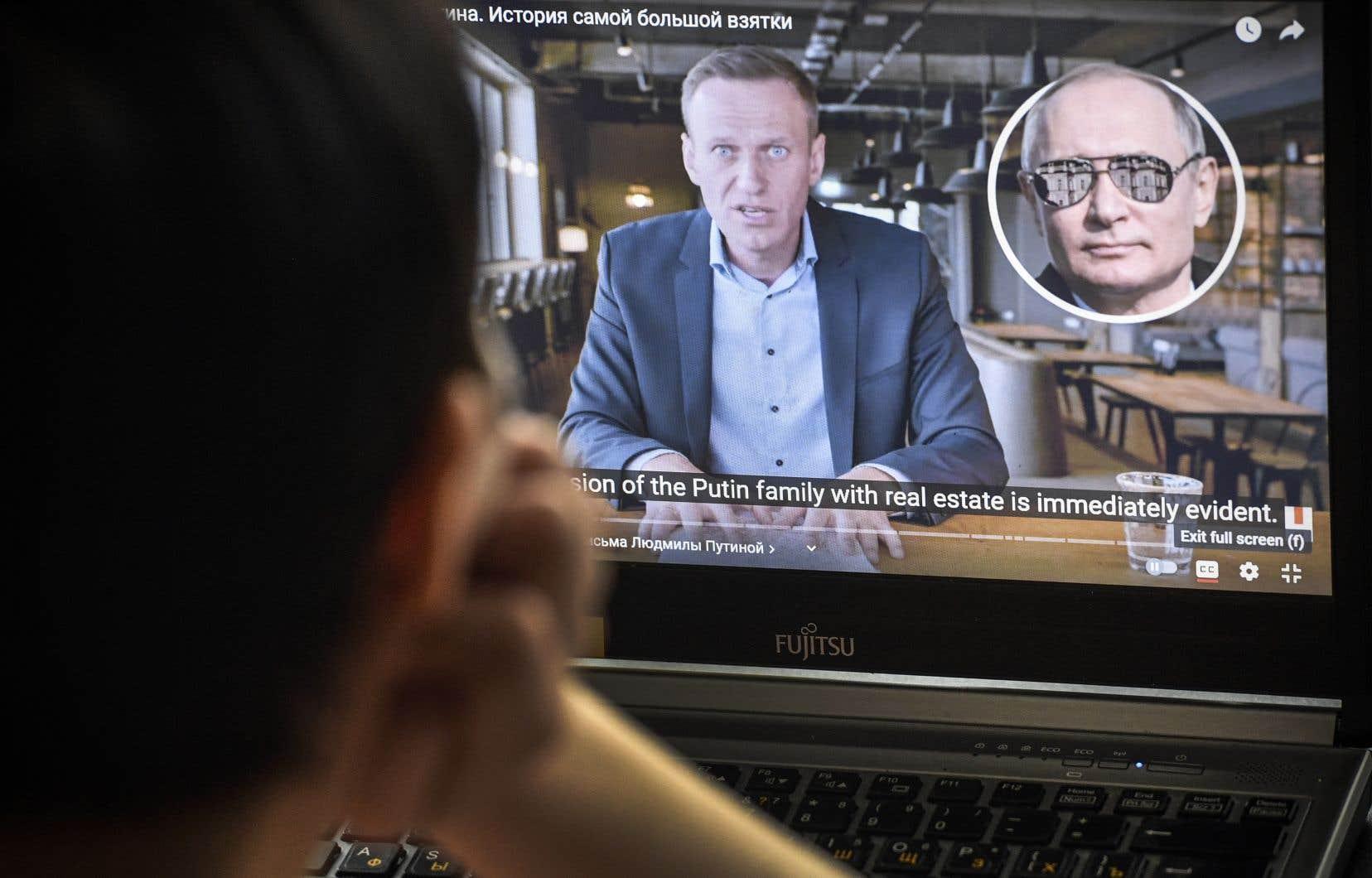 La vidéo d'Alexeï Navalny sur le palais présumé de Poutine a été déjà vue près de 100 millions de fois.