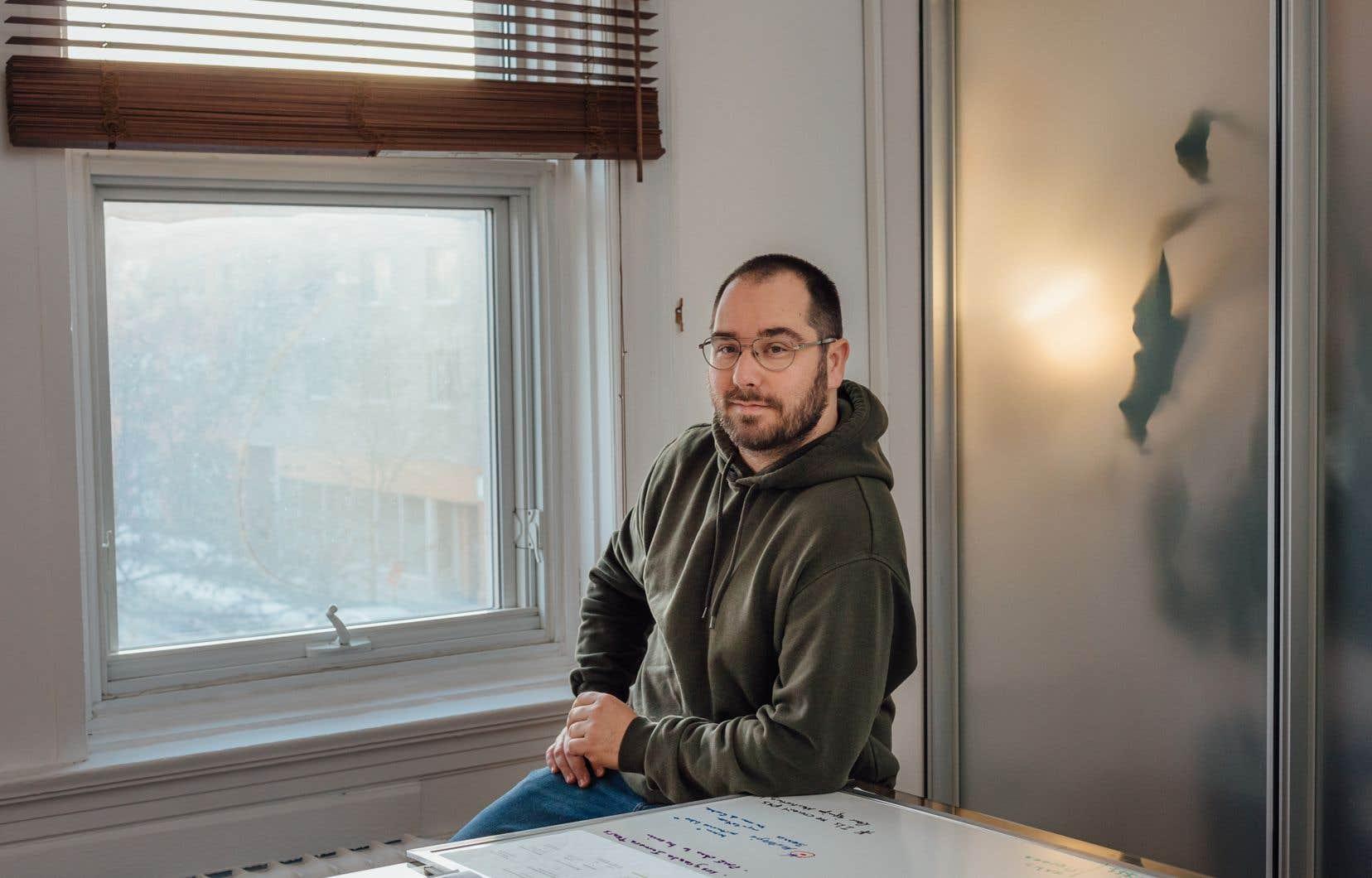 Axel Lespérance, fondateur de l'application RestoLoco, qui donne accès à une liste d'une centaine de restaurants.