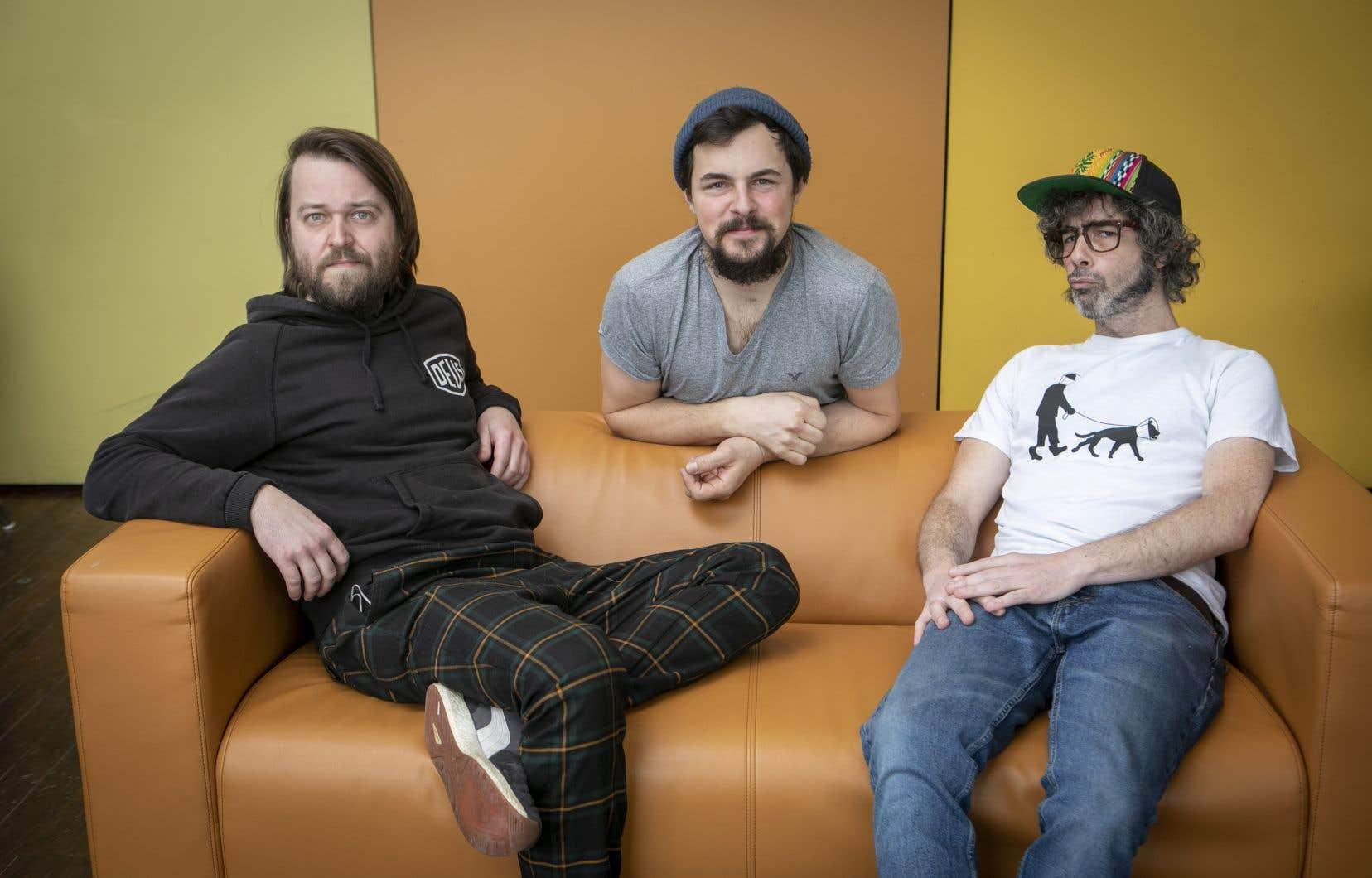 Le trio jazz MISC avec William Côté (batterie), Jérôme Beaulieu (piano synthétiseur) et Simon Pagé (basse)