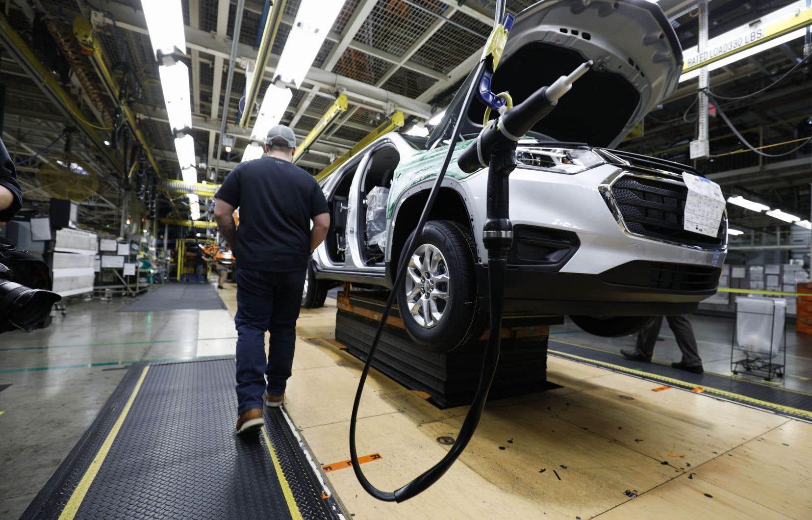 Trois usines GM suspendront leur production aux États-Unis, au Canada et au Mexique. Photo d'illustration.