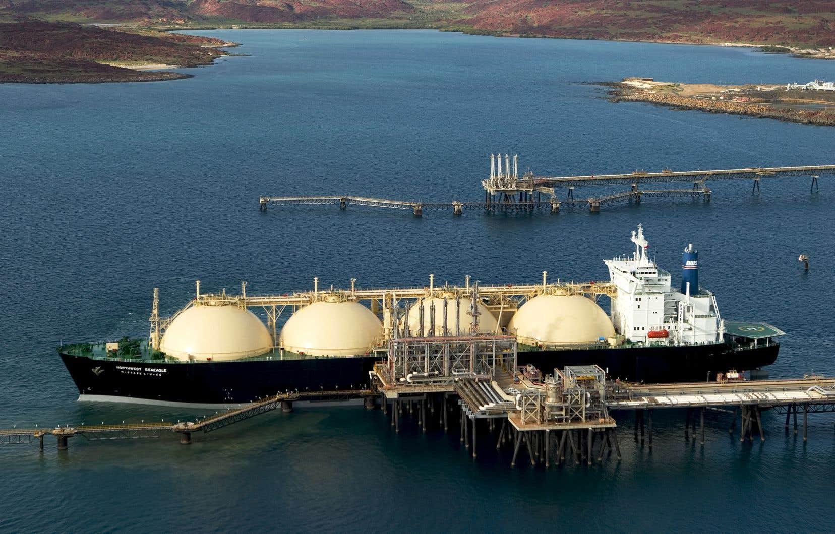 Le projet de gazoduc dépend directement de la construction de l'usine de GNL Québec et du terminal maritime.