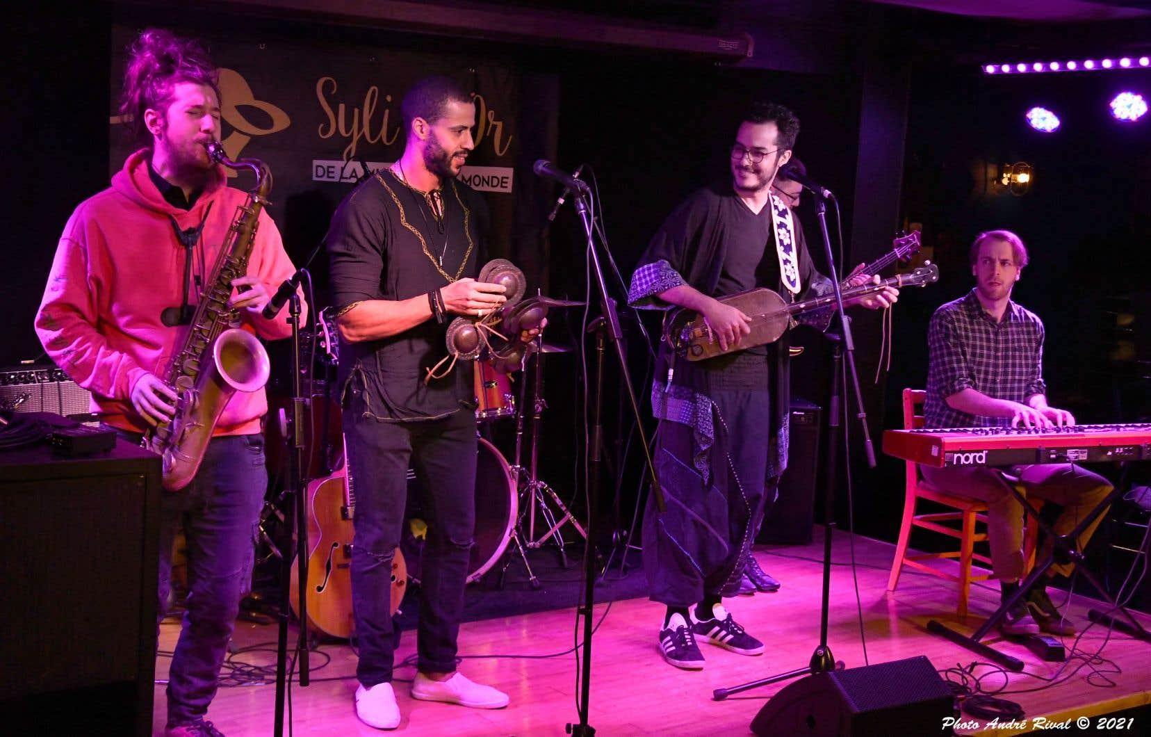 La vitrine des talents de la relève québécoise en musiques métissées a sacré le groupe Boulila, qui propose une fusion de musique gnawa, de jazz et de funk.