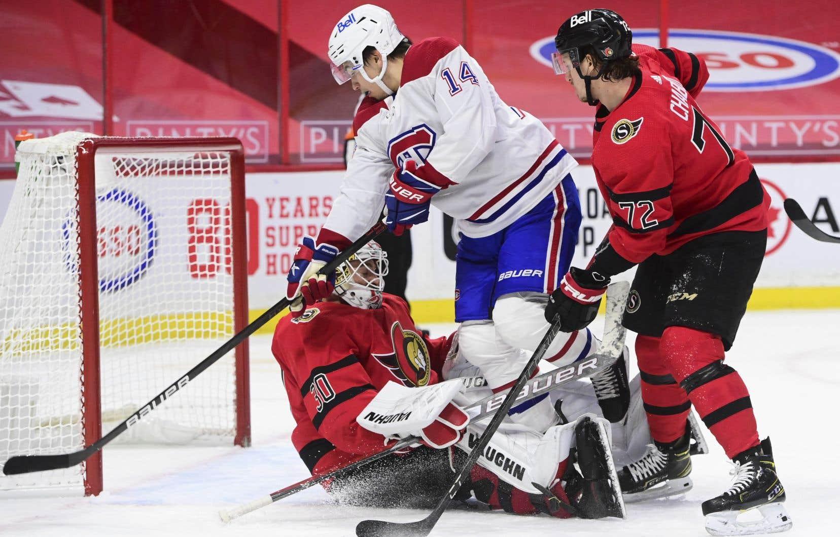 Le Canadien a dû travailler d'arrache-pied pour se venger des Sénateurs, samedi à Ottawa, avec une victoire de 2-1.