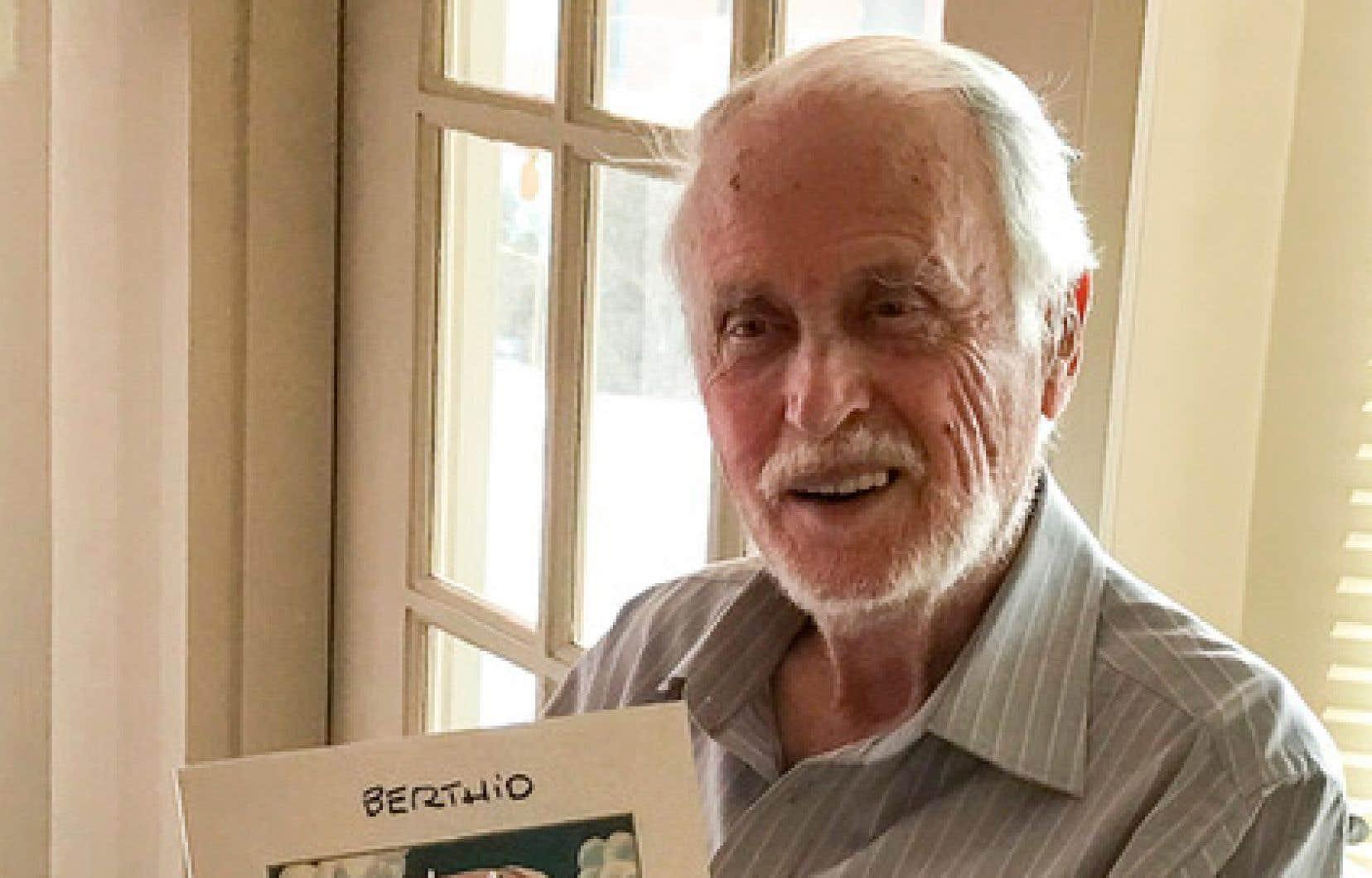 Le caricaturiste québécois Roland Berthiaume, alias Berthio
