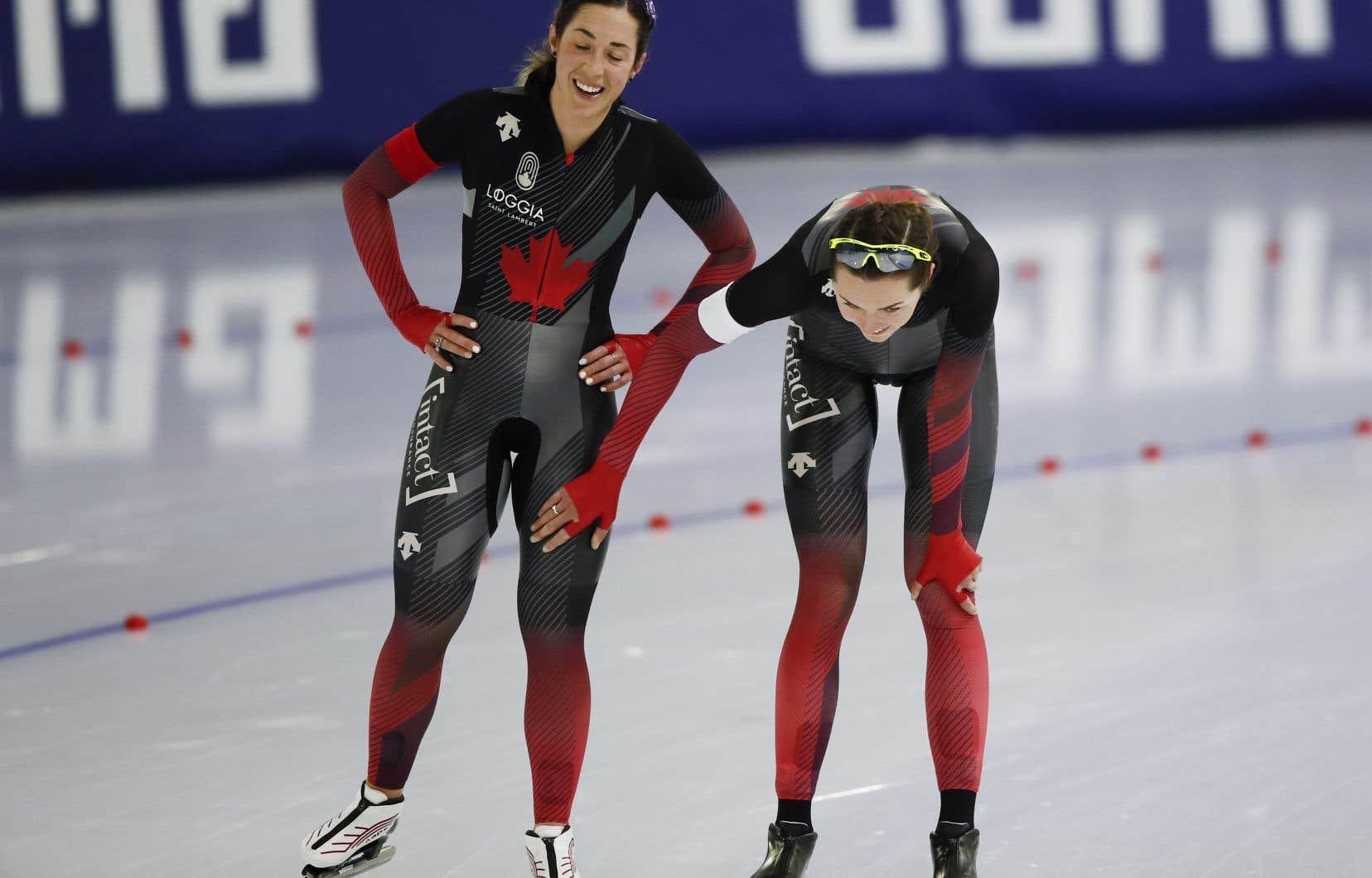 La Québécoise Valérie Maltais et l'Ontarienne Isabelle Weidemann ont terminé respectivement huitième et cinquième au 3000m aux Championnats du monde de patinage de vitesse longue piste de Heerenveen.