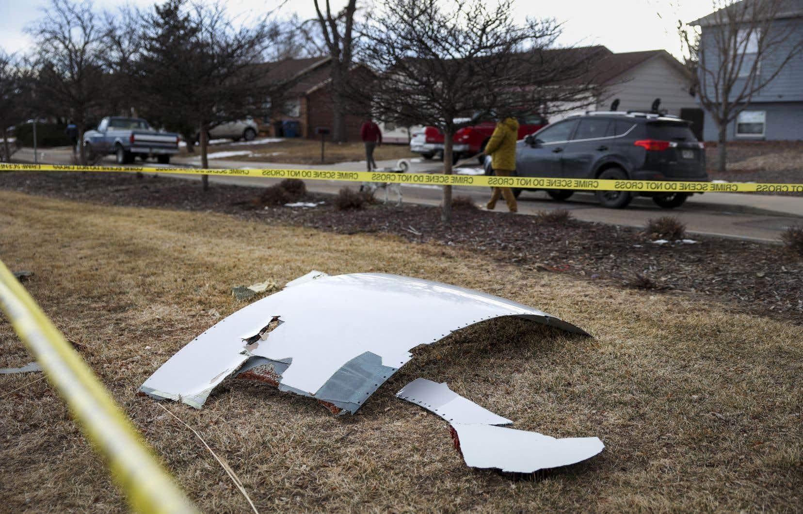 De multiples débris sont tombés à Broomfield, en banlieue de Denver.