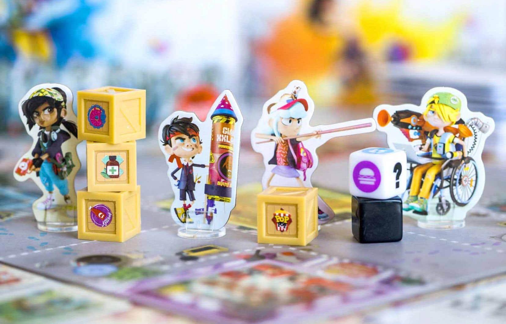 Dans le jeu Zombie Kidz, les joueurs doivent éliminer des zombies et ramener des caisses de vivres à l'école, où les héros sont retranchés.