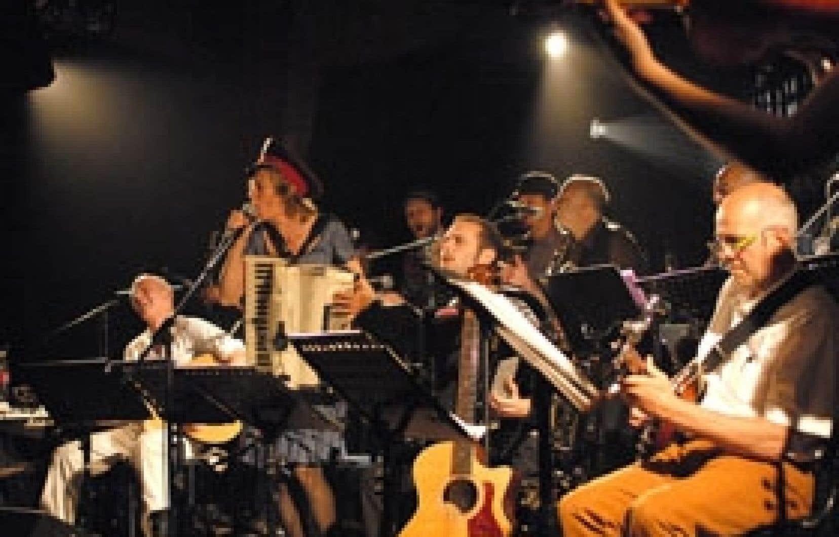 Ce que la Fanfare Pourpour fait sur scène comme en studio est un régal de tous les instants. Photo: Pierre Crépô