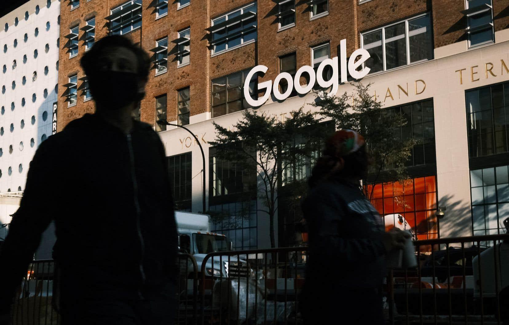 En 2020, Google a annoncé l'accroissement de ses activités au Canada avec l'ouverture de trois bureaux, à Montréal, à Toronto et à Kitchener-Waterloo. Sur la photo, ceux de New York, aux États-Unis.