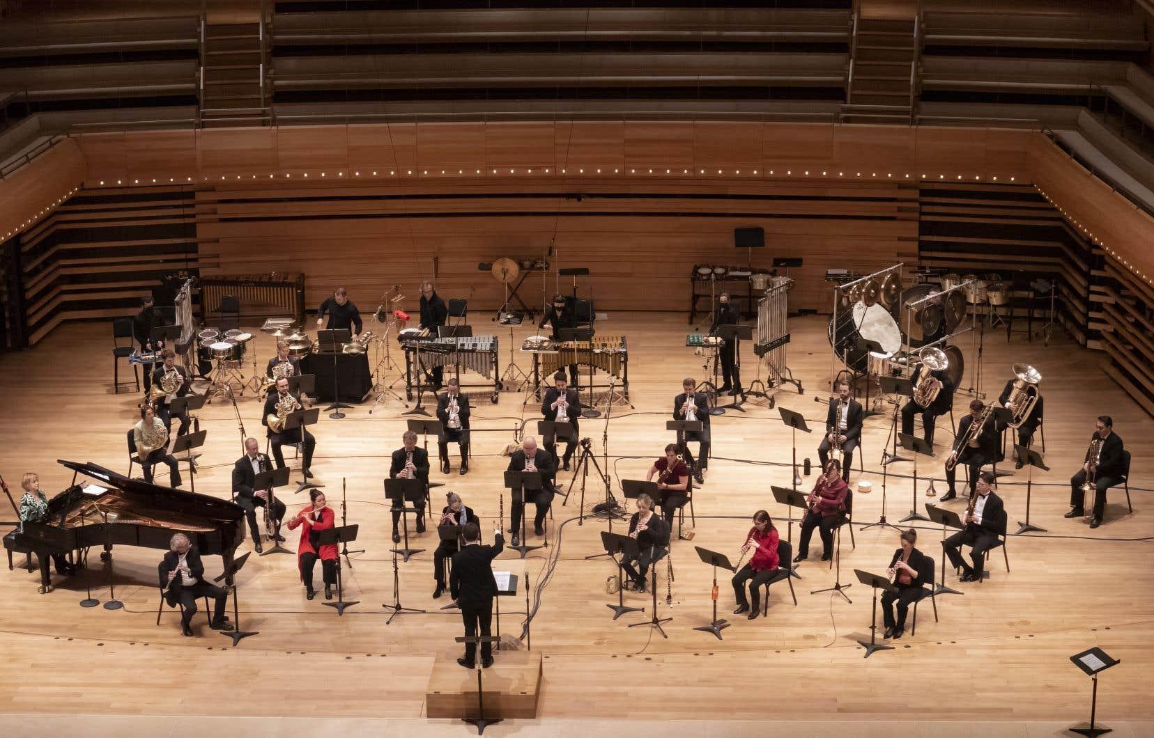 Le concert «Volumina» a été capté à la Maison symphonique à l'occasion du 10e anniversaire du Festival Montréal/Nouvelles Musiques.