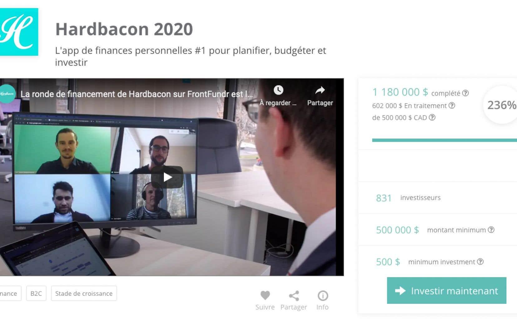 Hardbacon est l'une des rares entreprises à se tourner vers le financement participatif en capital pour ses levées de fonds.