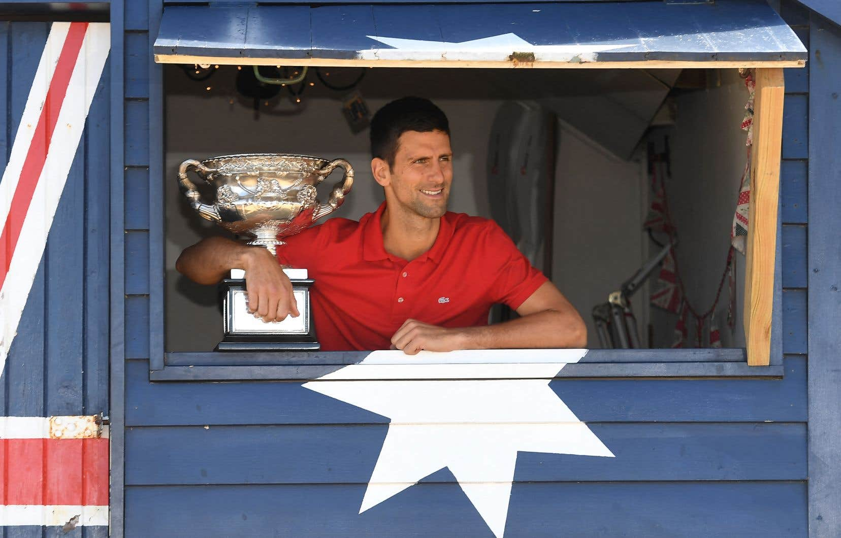 Le joueur de tennis,Novak Djokovic