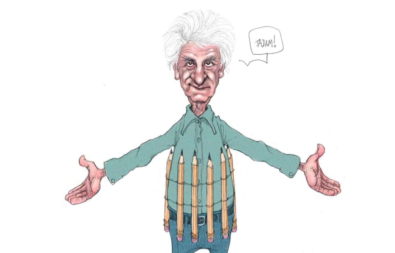 Le Musée McCord rassemble 150 esquisses et illustrations du caricaturiste Serge Chapleau. Sur l'illustration, Autoportrait à l'arme de destruction massive (Serge Chapleau, La Presse, 18 février 2006).
