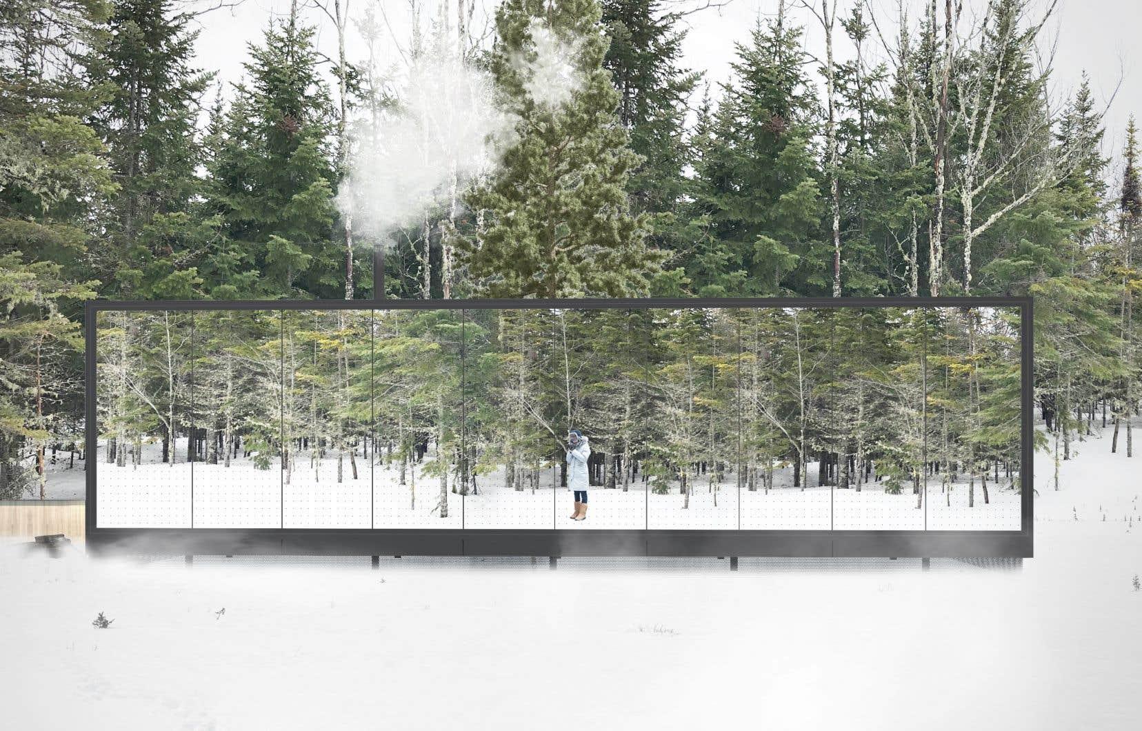 Après le succès retentissant de Dômes Charlevoix, les propriétaires viennent d'inaugurer Réflexion Charlevoix, des chalets qui reflètent leur environnement grâce à des façades de verre miroir.