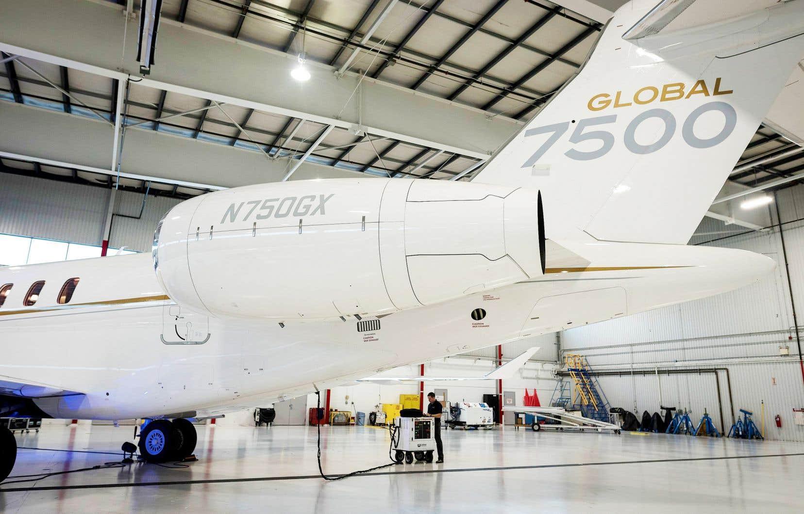 Bombardier s'attend à arrêter de perdre de l'argent avec le Global 7500, ce luxueux jet d'affaires sur lequel la société mise et dont le carnet de commandes est rempli jusqu'en 2023.