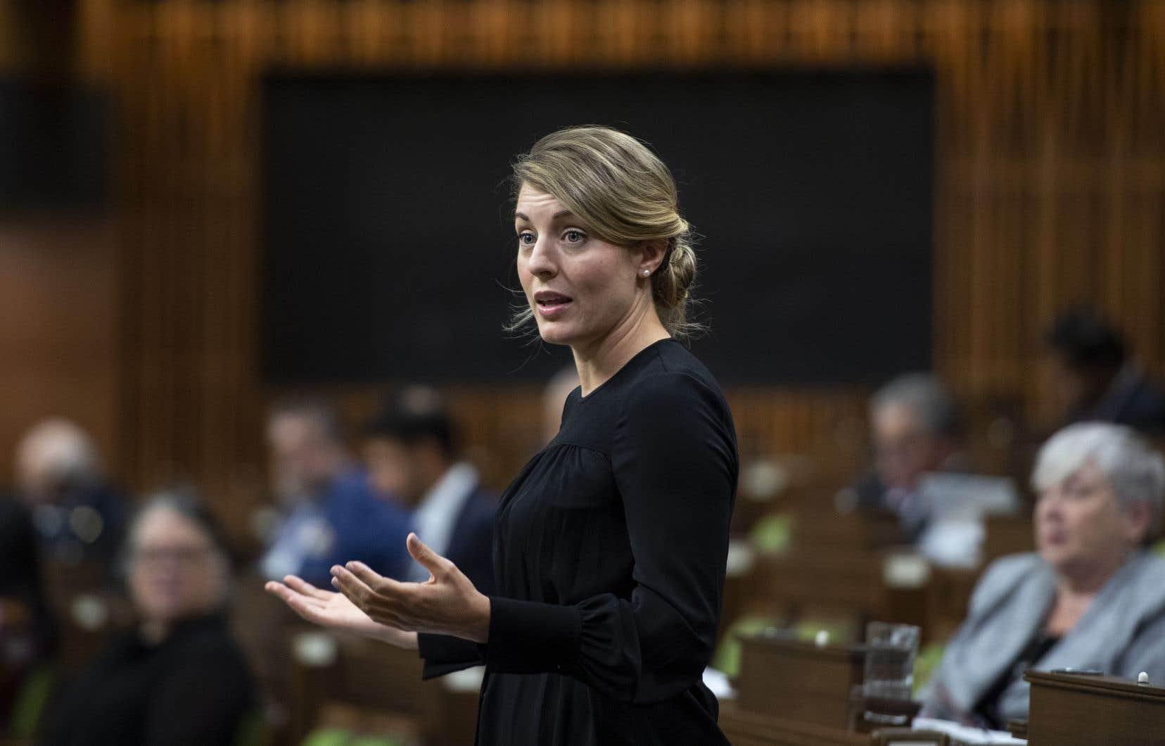 La ministredu Développement économique et des Langues officielles, Mélanie Joly