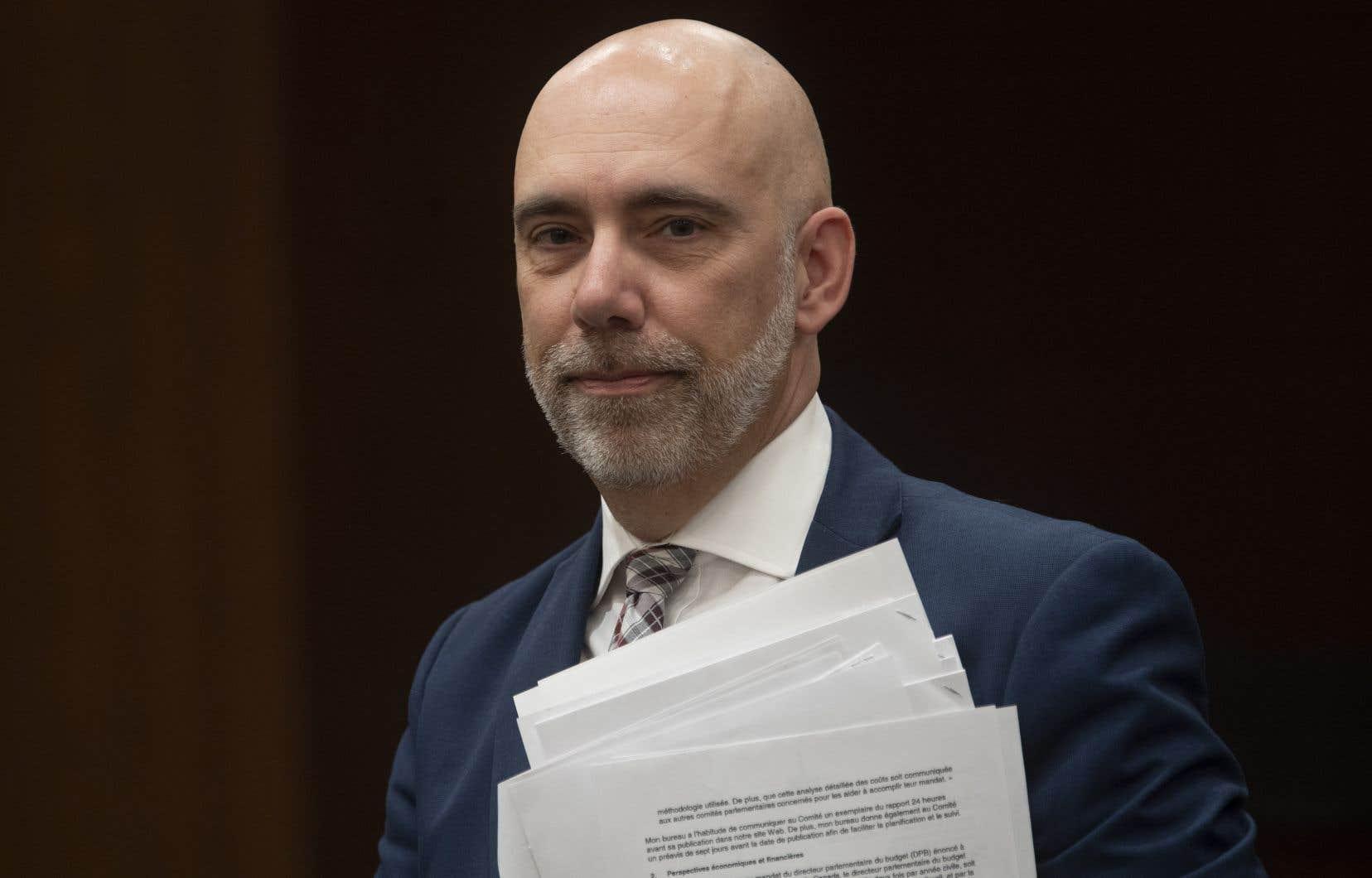 Le directeur parlementaire du budget, Yves Giroux