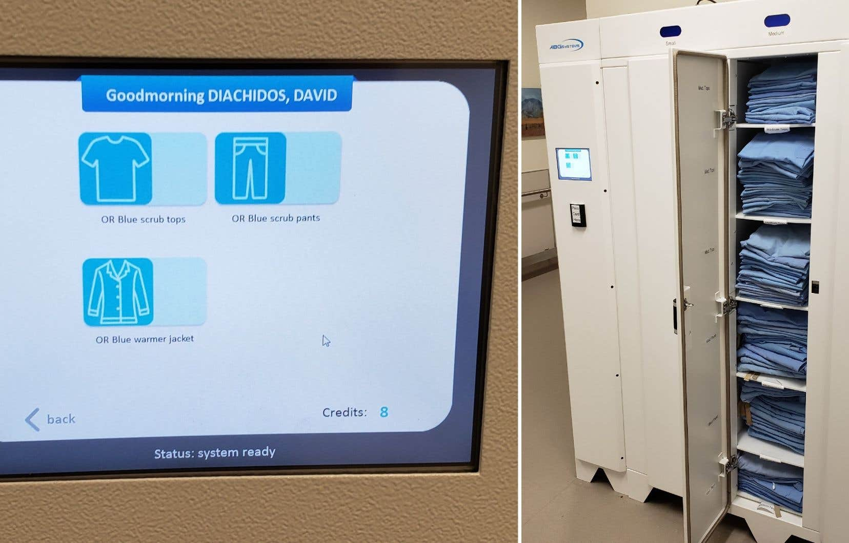 Des spécialistes ont développé des armoires intelligentes pour gérer les uniformes du personnel médical dans les hôpitaux.
