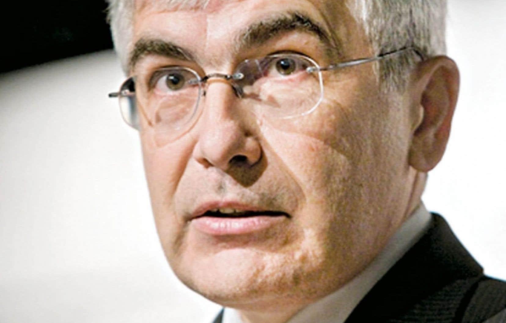 Le ministre du Développement économique, de l'Innovation et de l'Exportation, Clément Gignac<br />