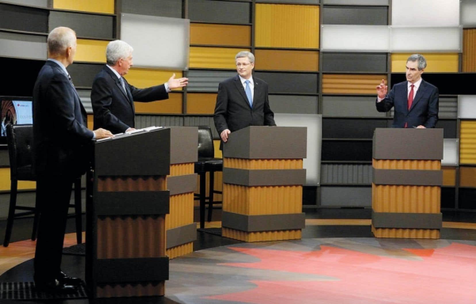 C'est lors du cinquième et avant-dernier segment du débat, consacré à la Constitution, que les quatre chefs ont fait preuve d'un peu de passion.