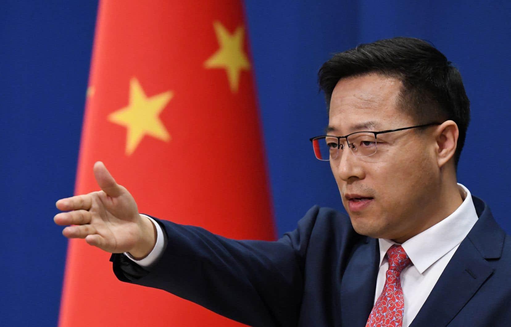 Le porte-parole du ministère chinois des Affaires étrangères, Zhao Lijian