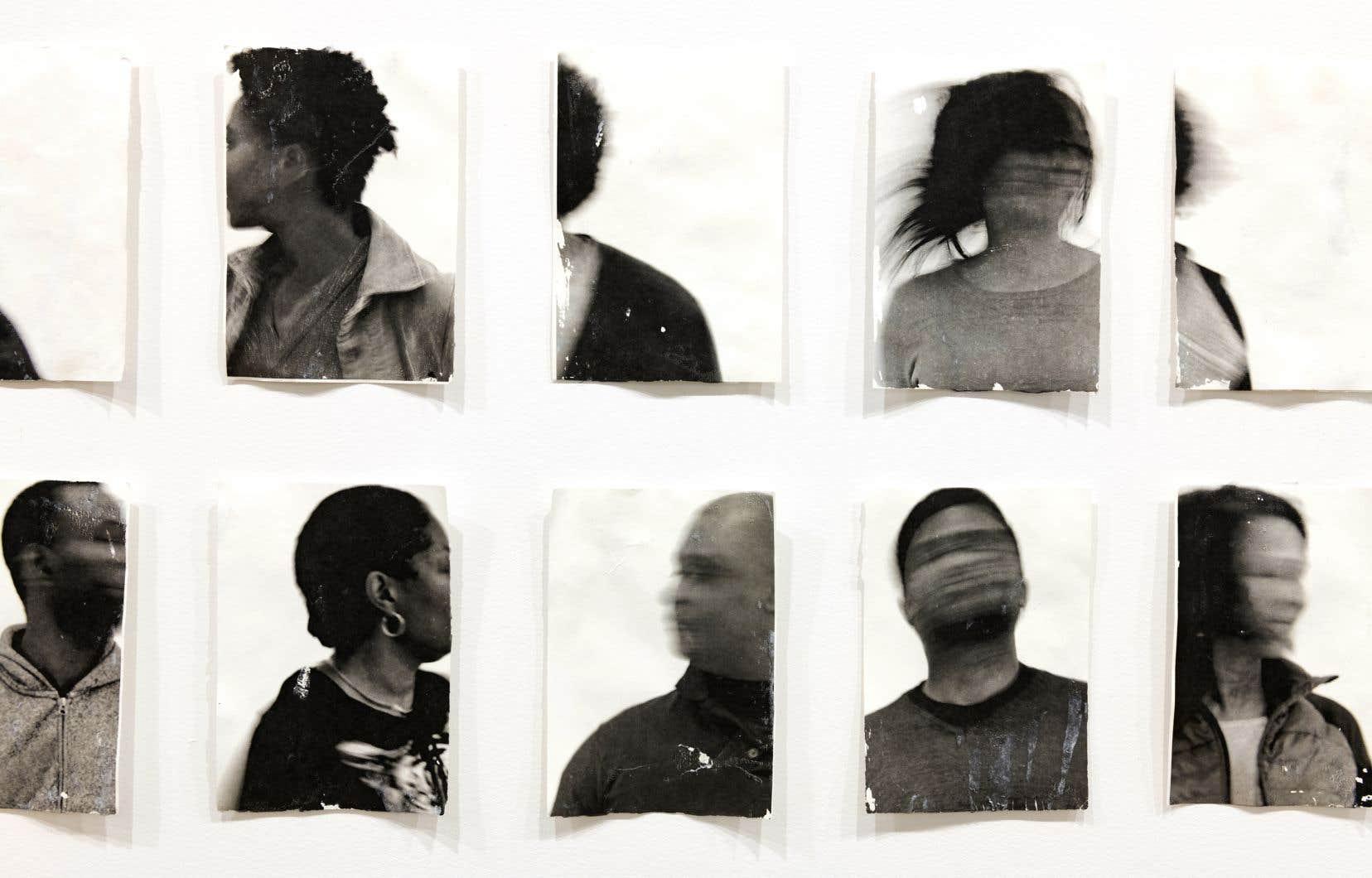 Sandra Brewster, «Untitled (Blur)», détail, 2017–2019