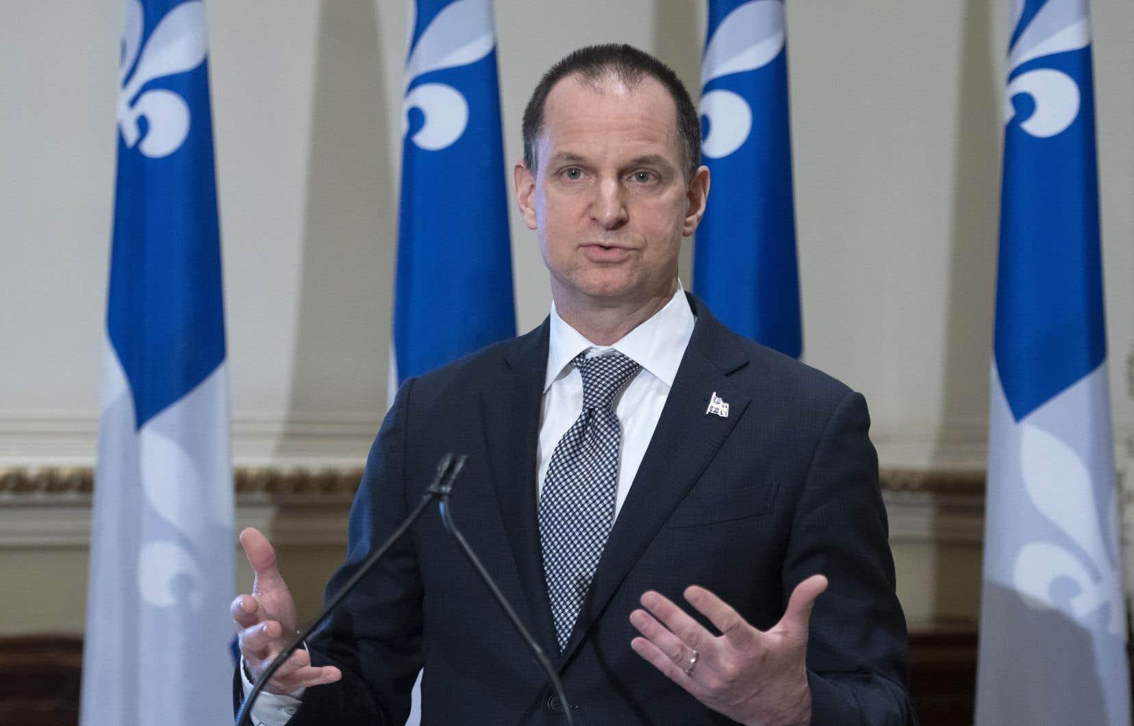 Le ministre des Finances du Québec, Eric Girard, présentera son nouveau budget la semaine prochaine.