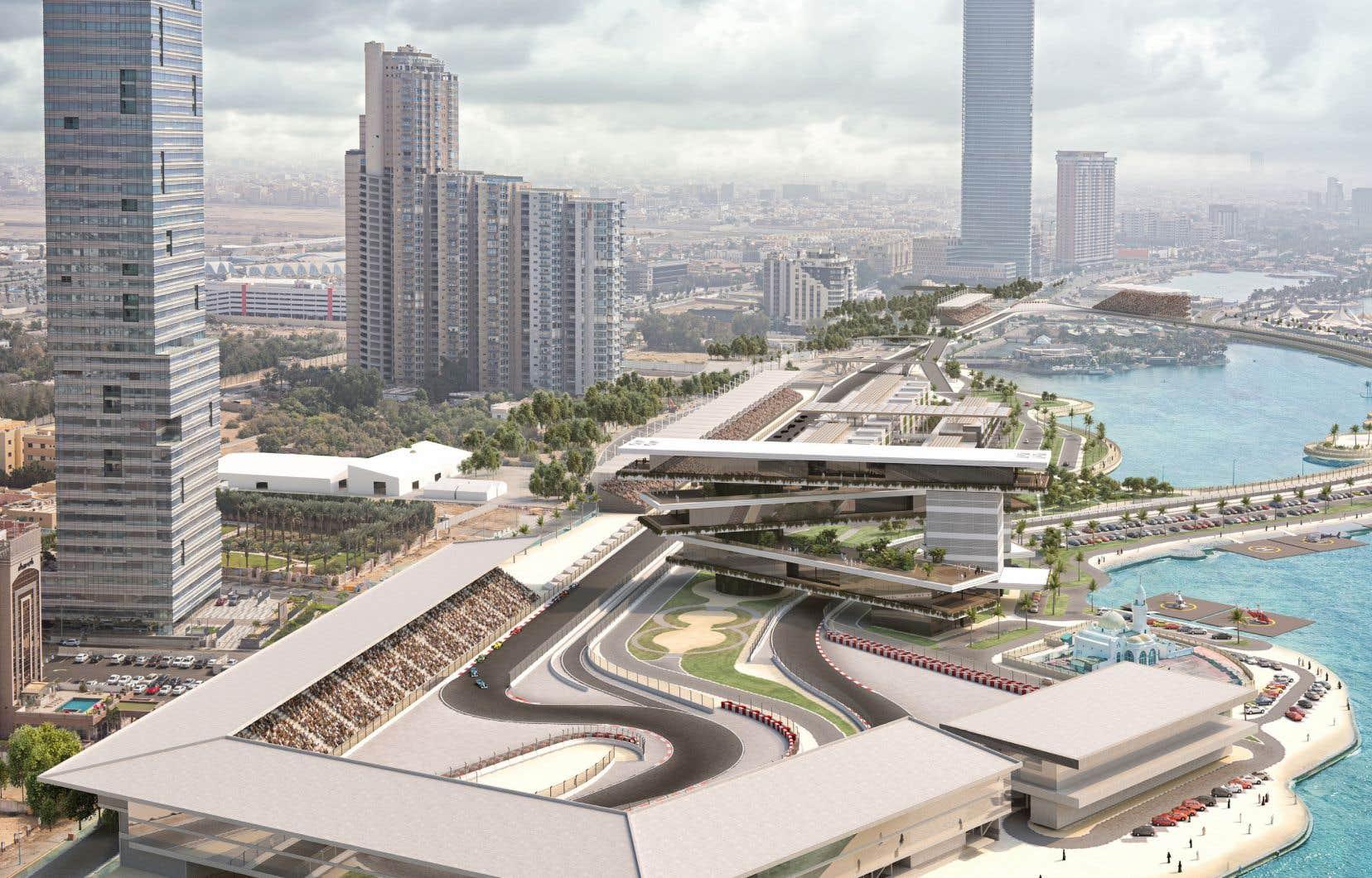 Une représentation artistique du circuit où se déroulera le premier Grand Prix de F1 d'Arabie saoudite